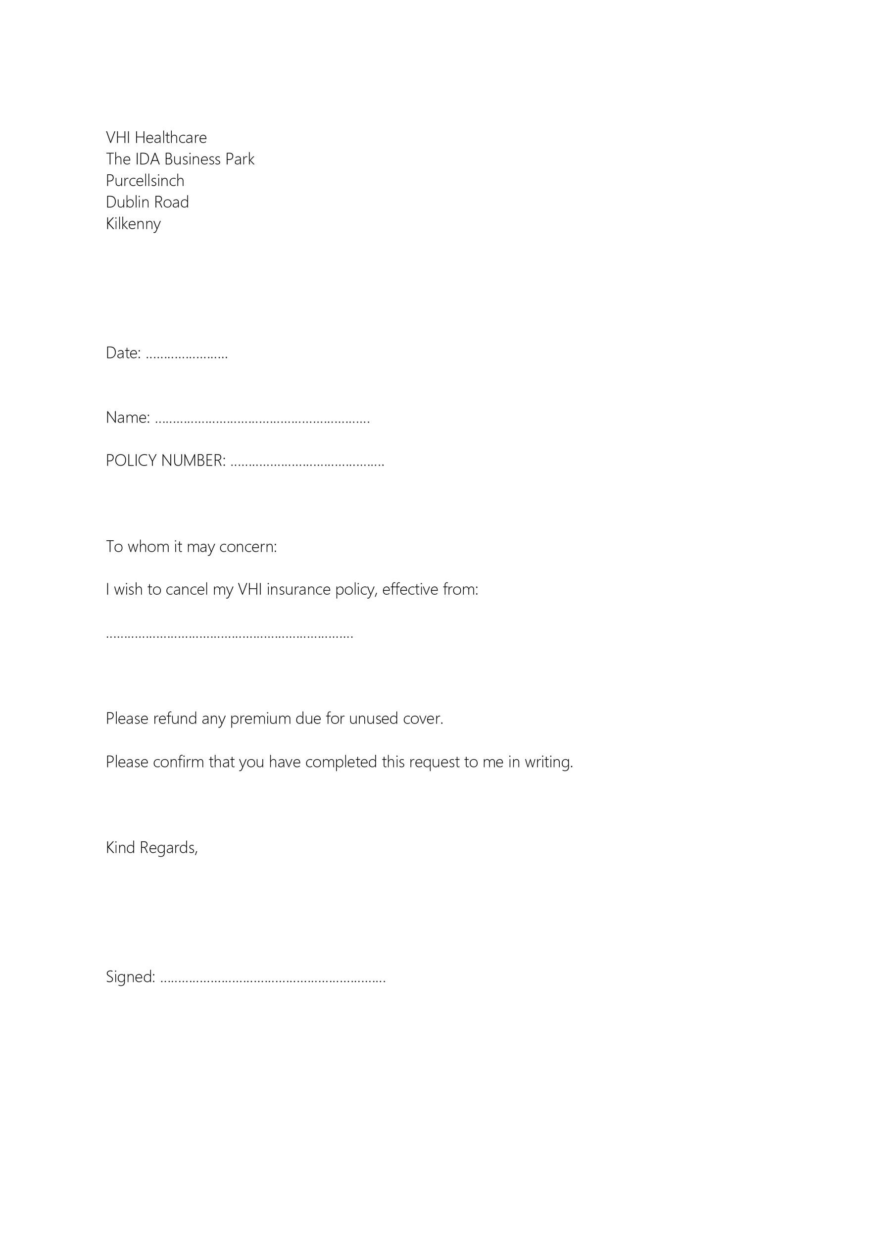41 Professional Cancellation Letters Gym Insurance Contract More
