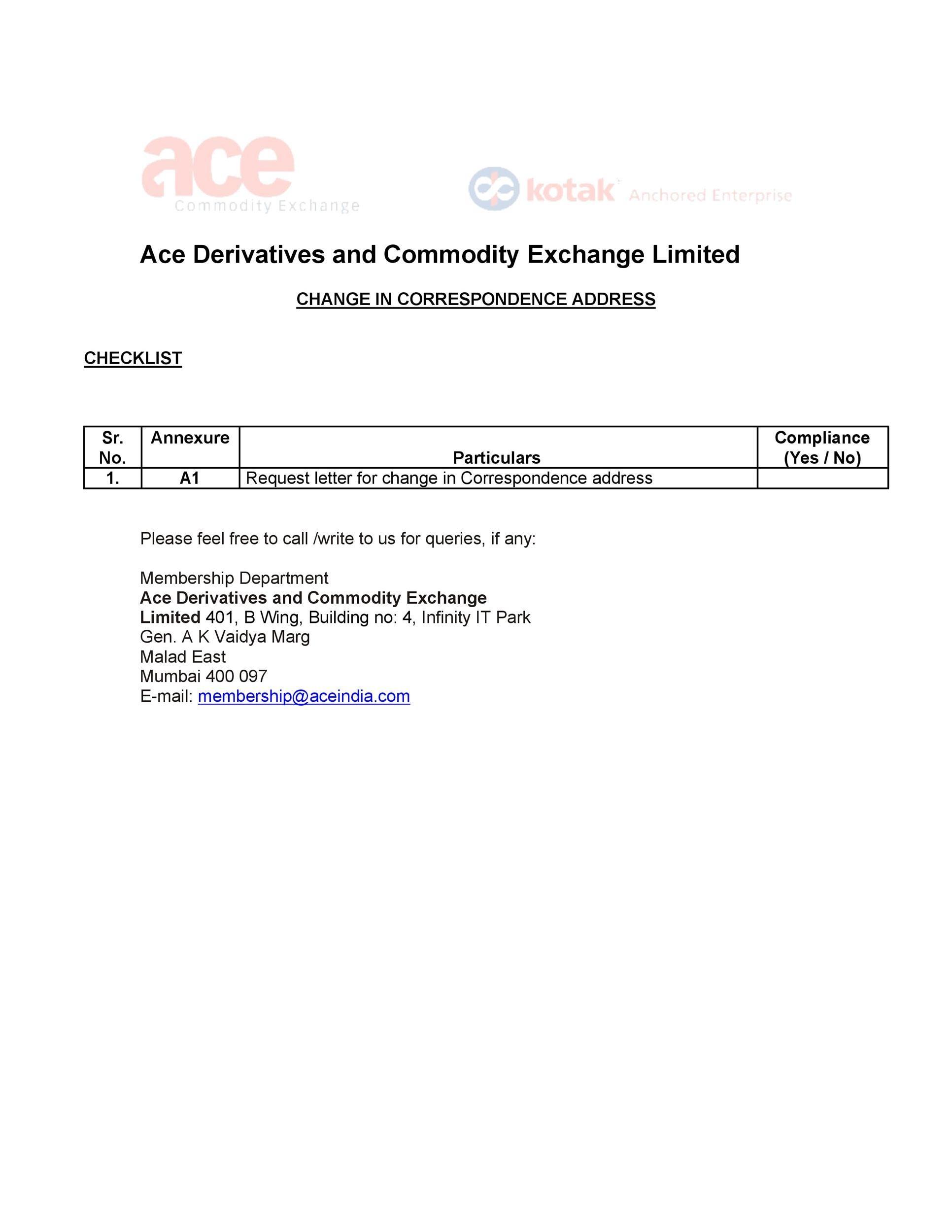 Free change of address letter 03
