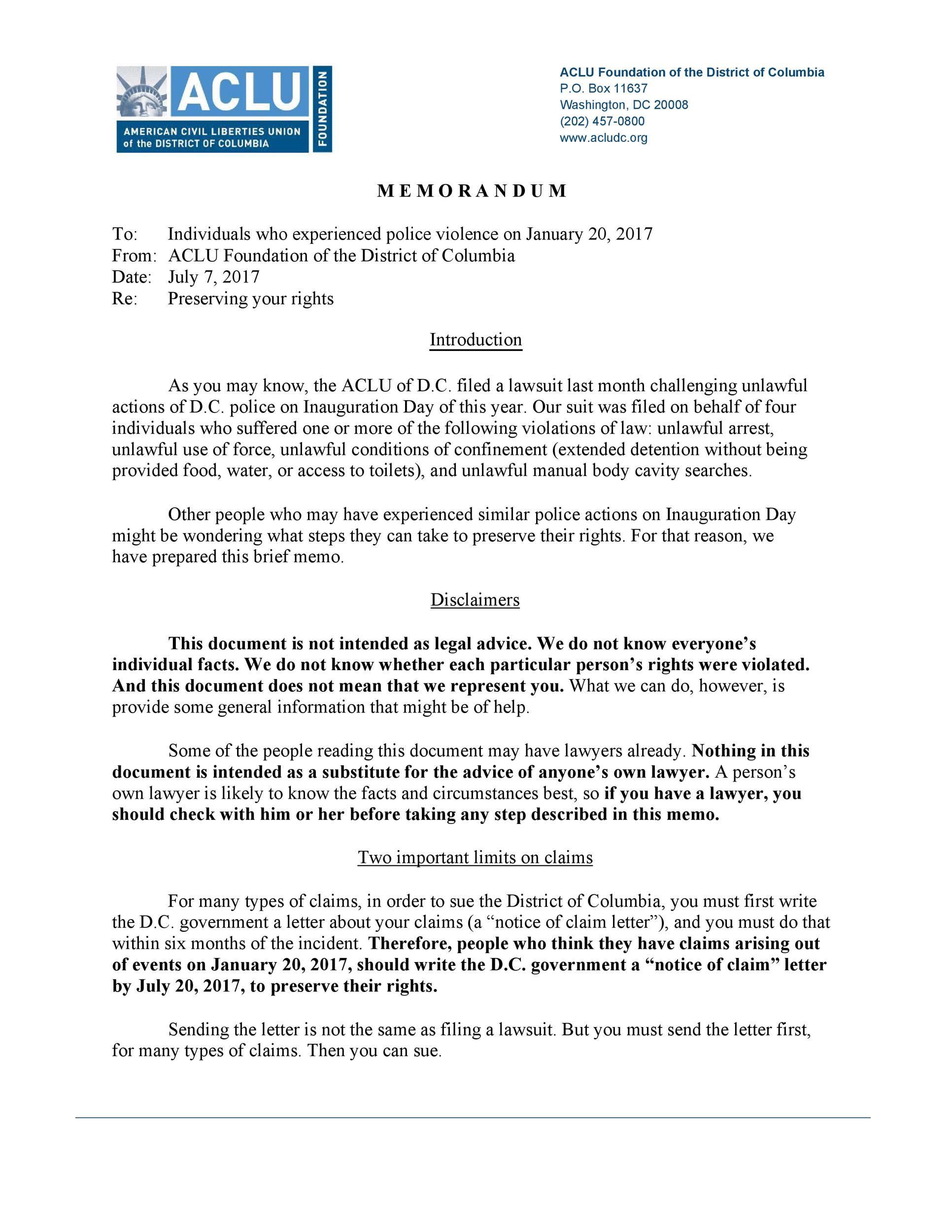 Free claim letter  10