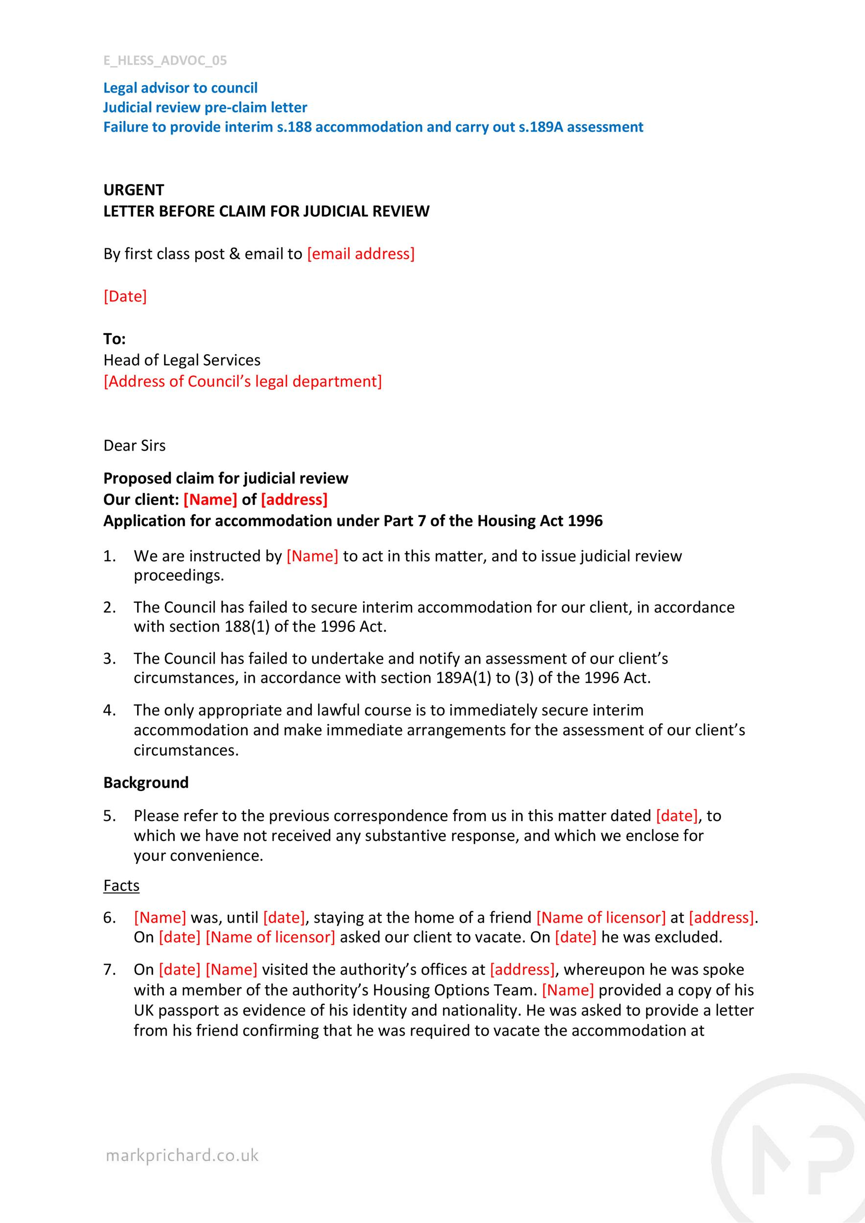 Free claim letter  24