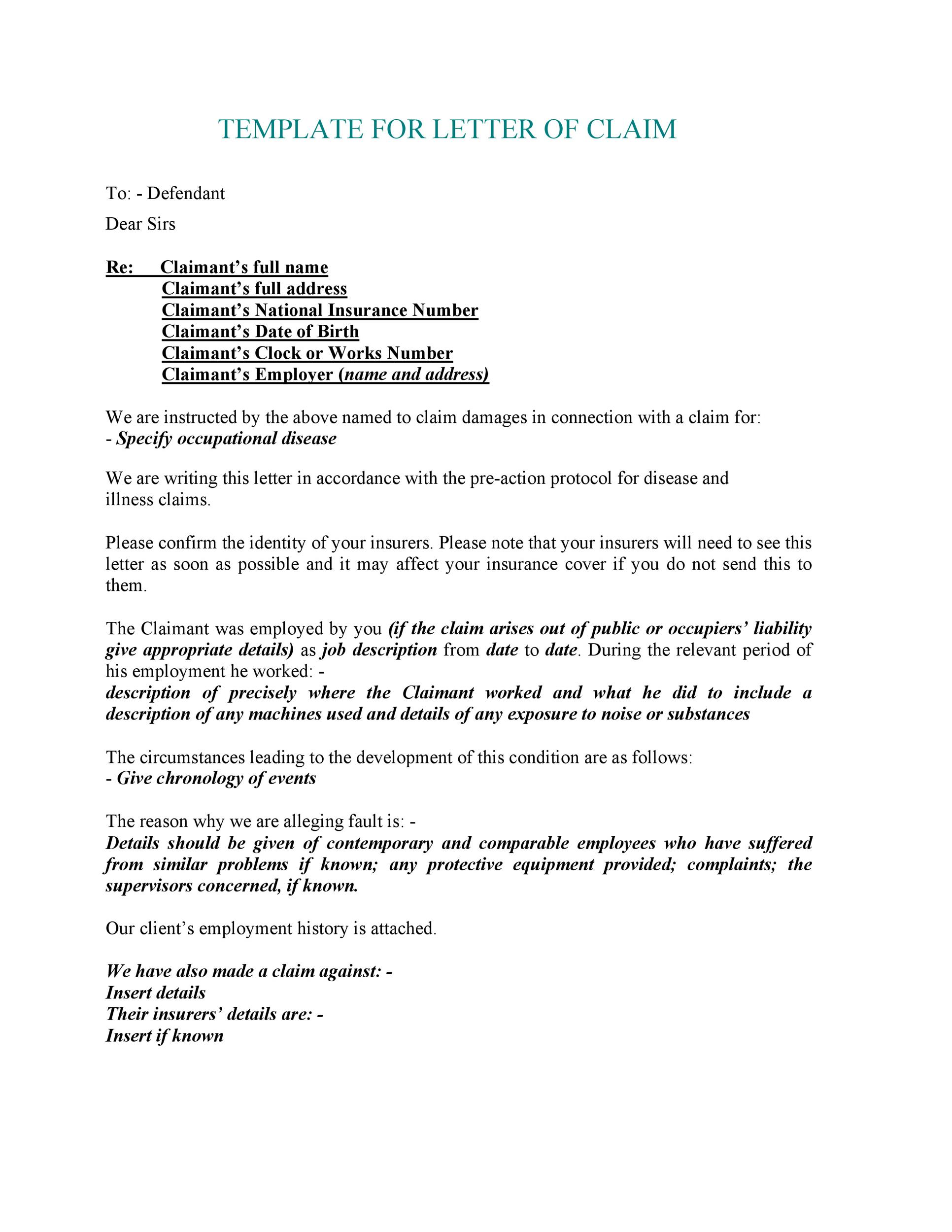 Compensation Request Letter Sample from templatelab.com