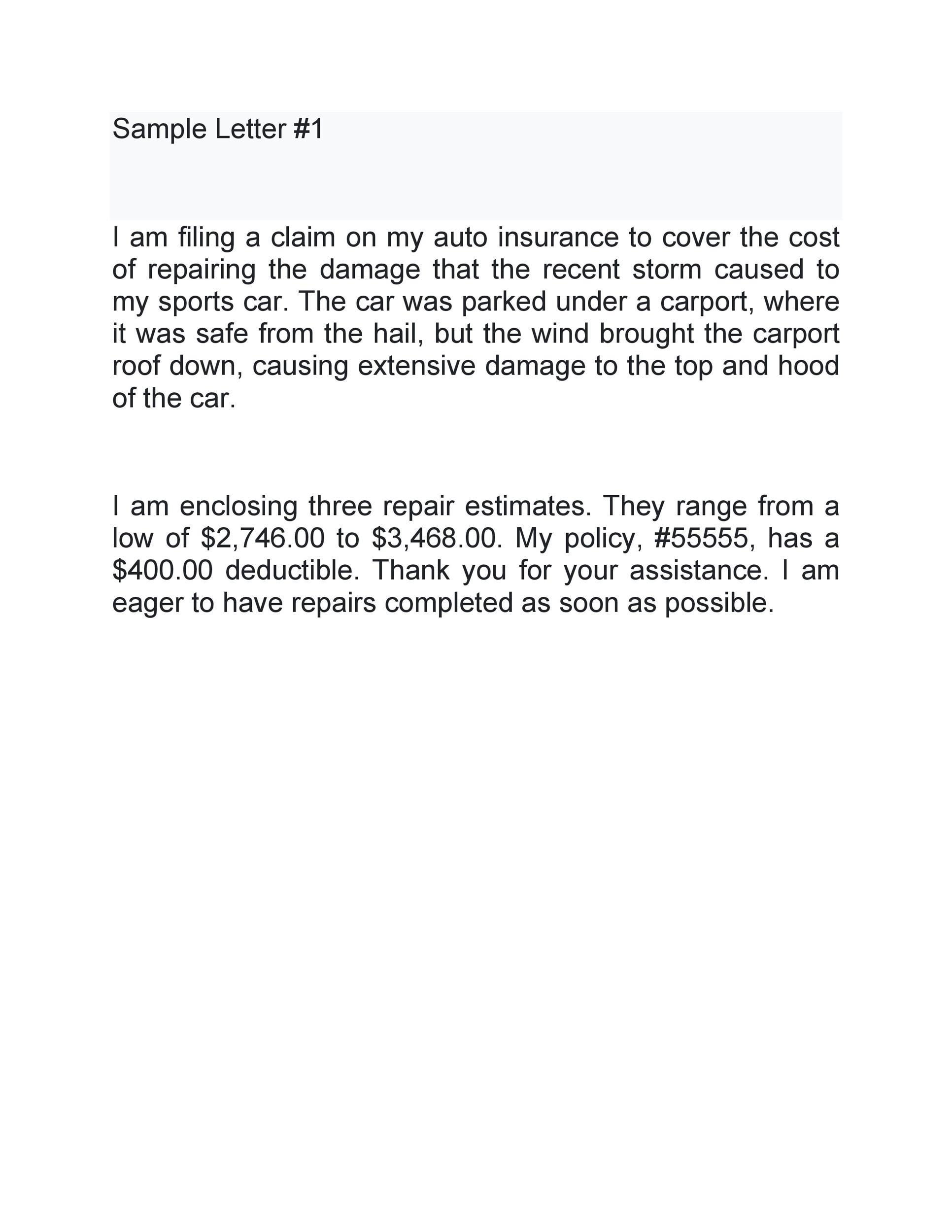Free claim letter  45
