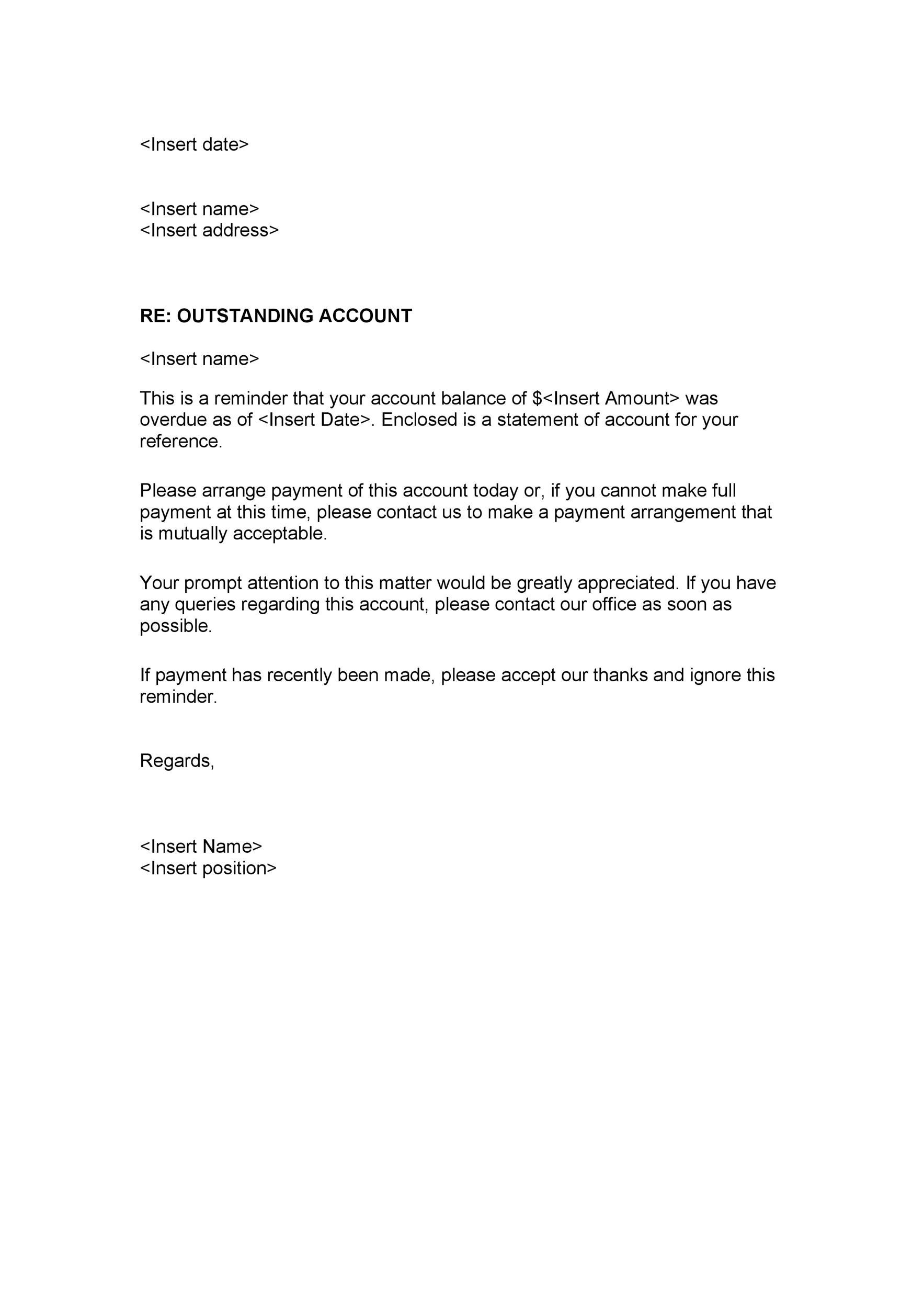 Free collection letter template 19