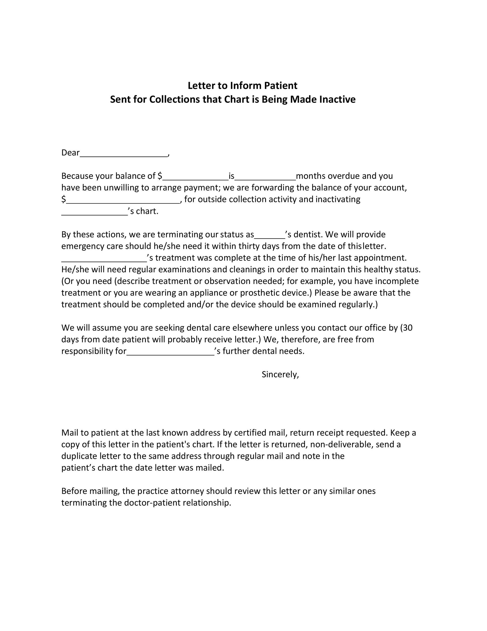 Free collection letter template 32