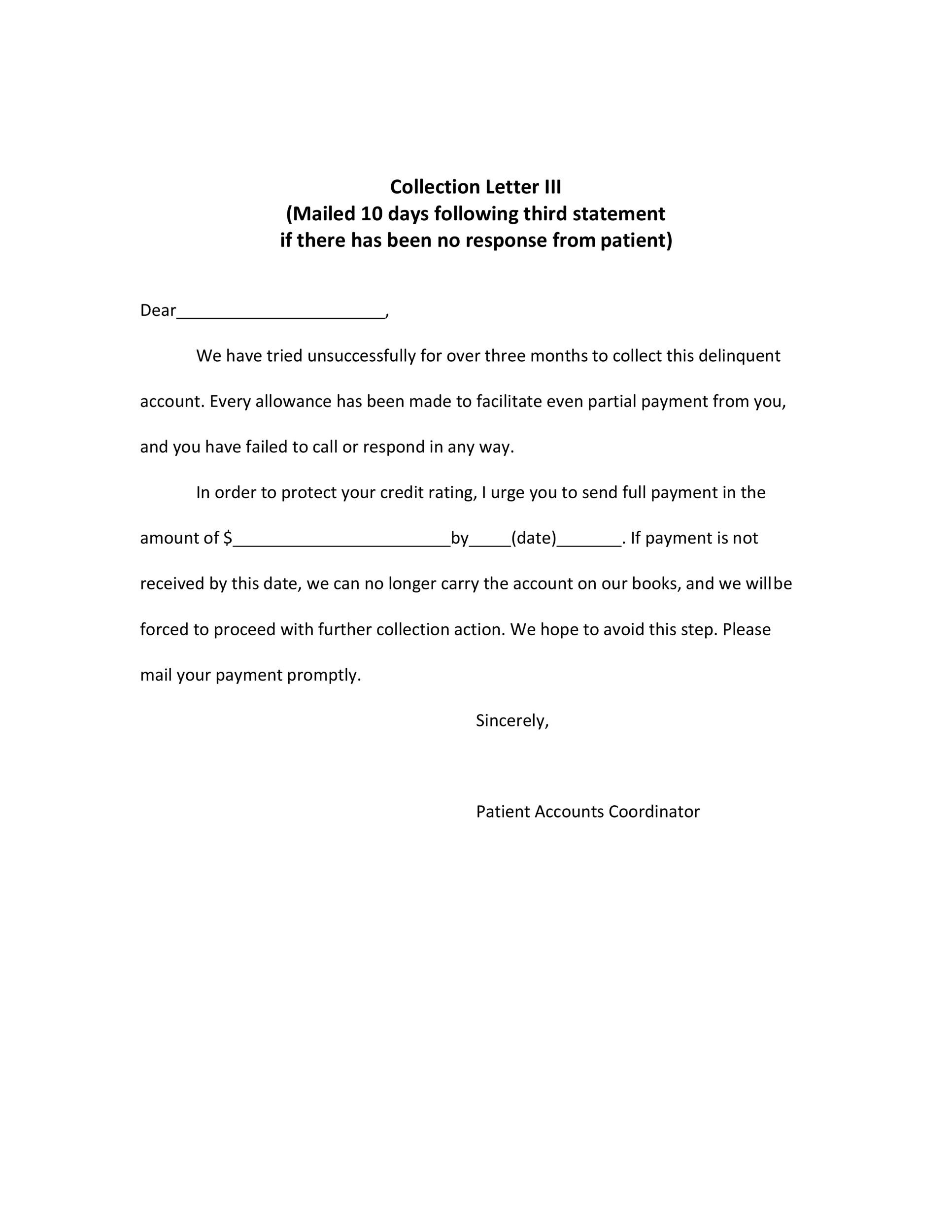 Free collection letter template 34