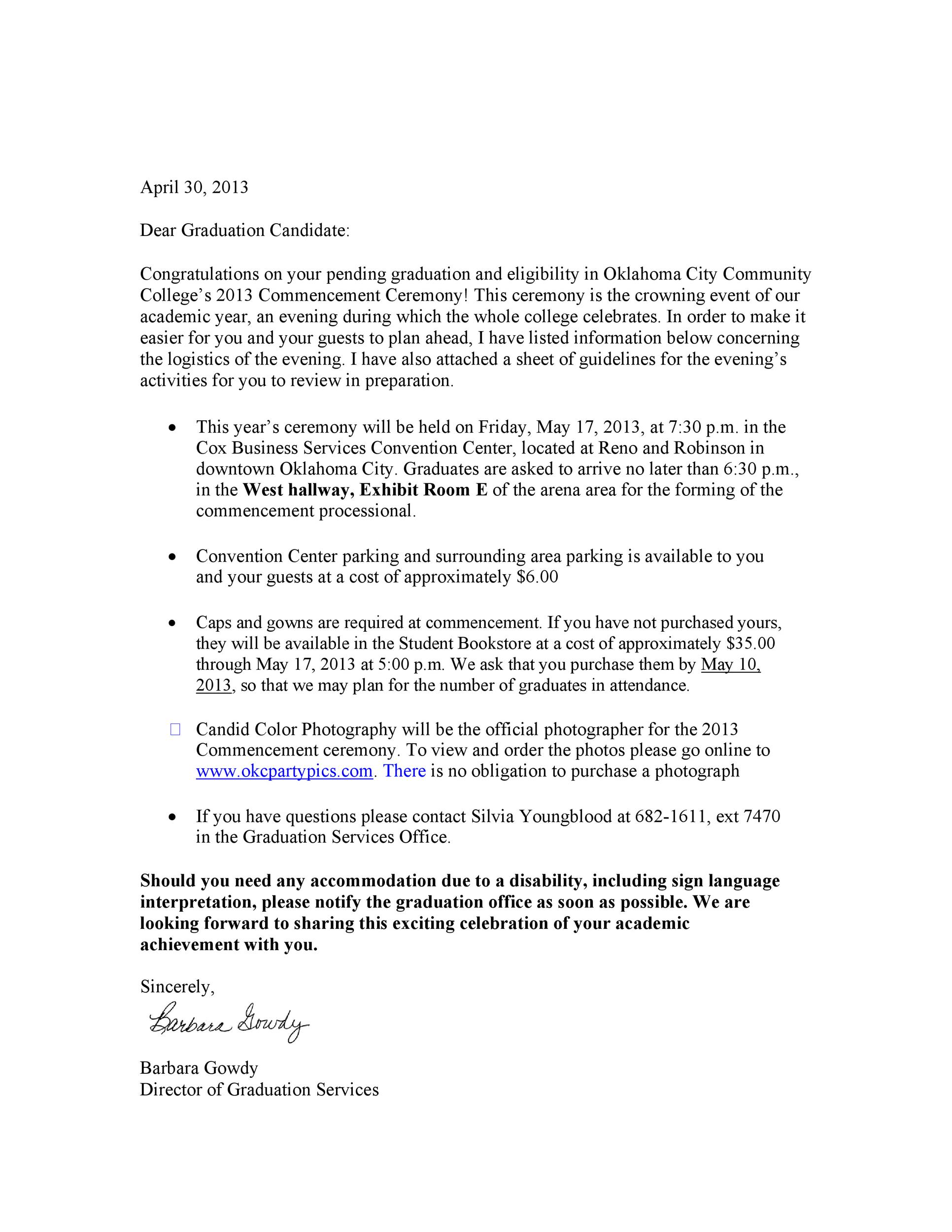 Free congratulations letter 18