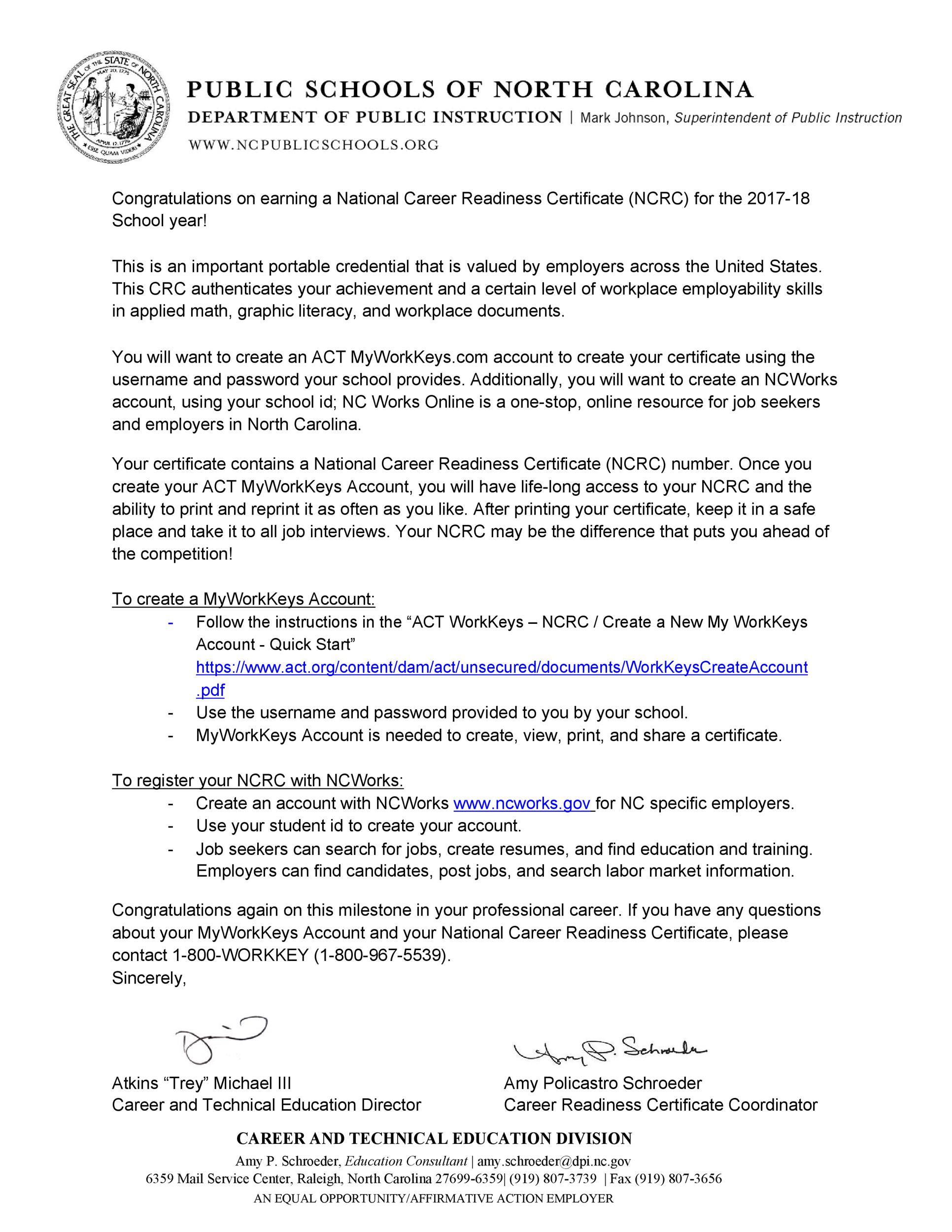 Free congratulations letter 19