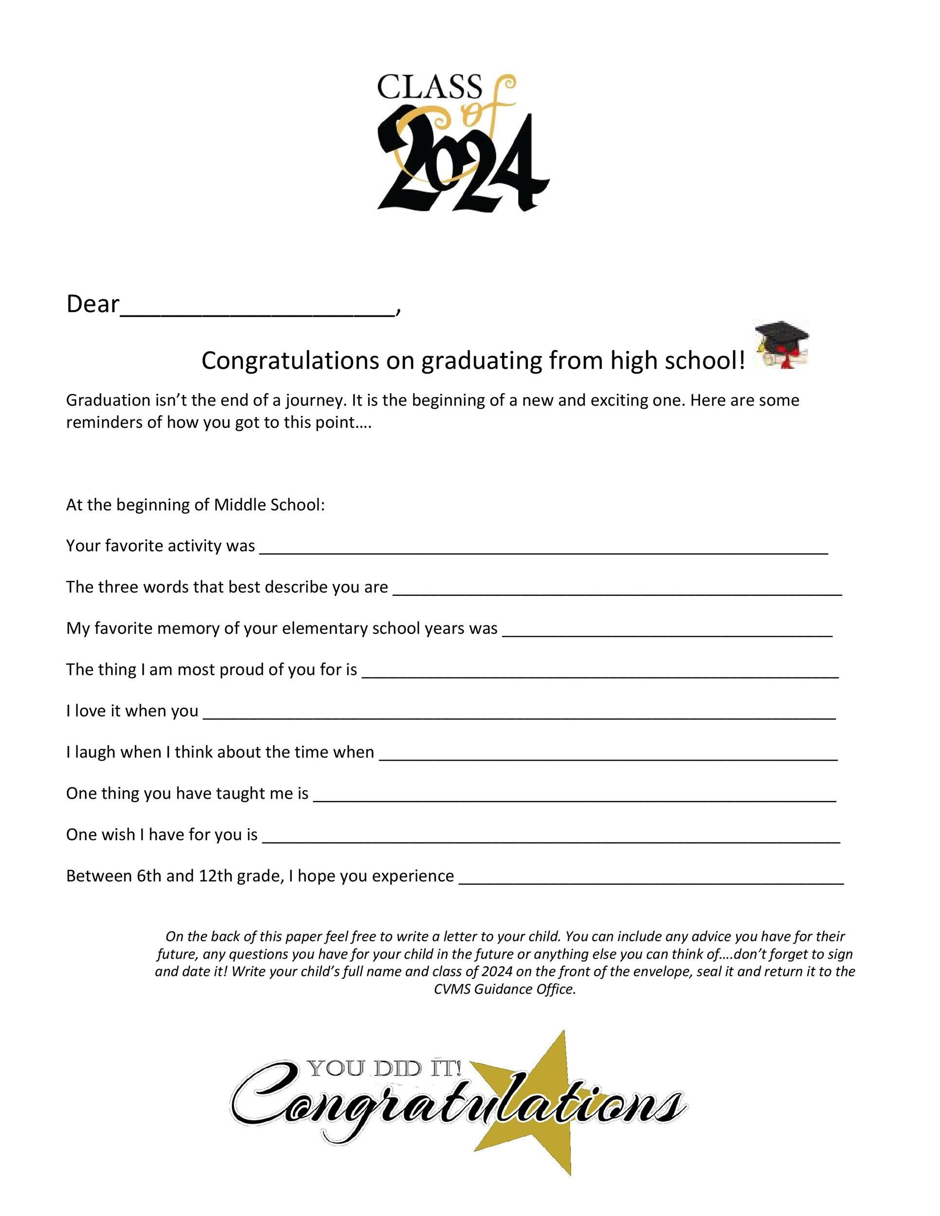 Free congratulations letter 34