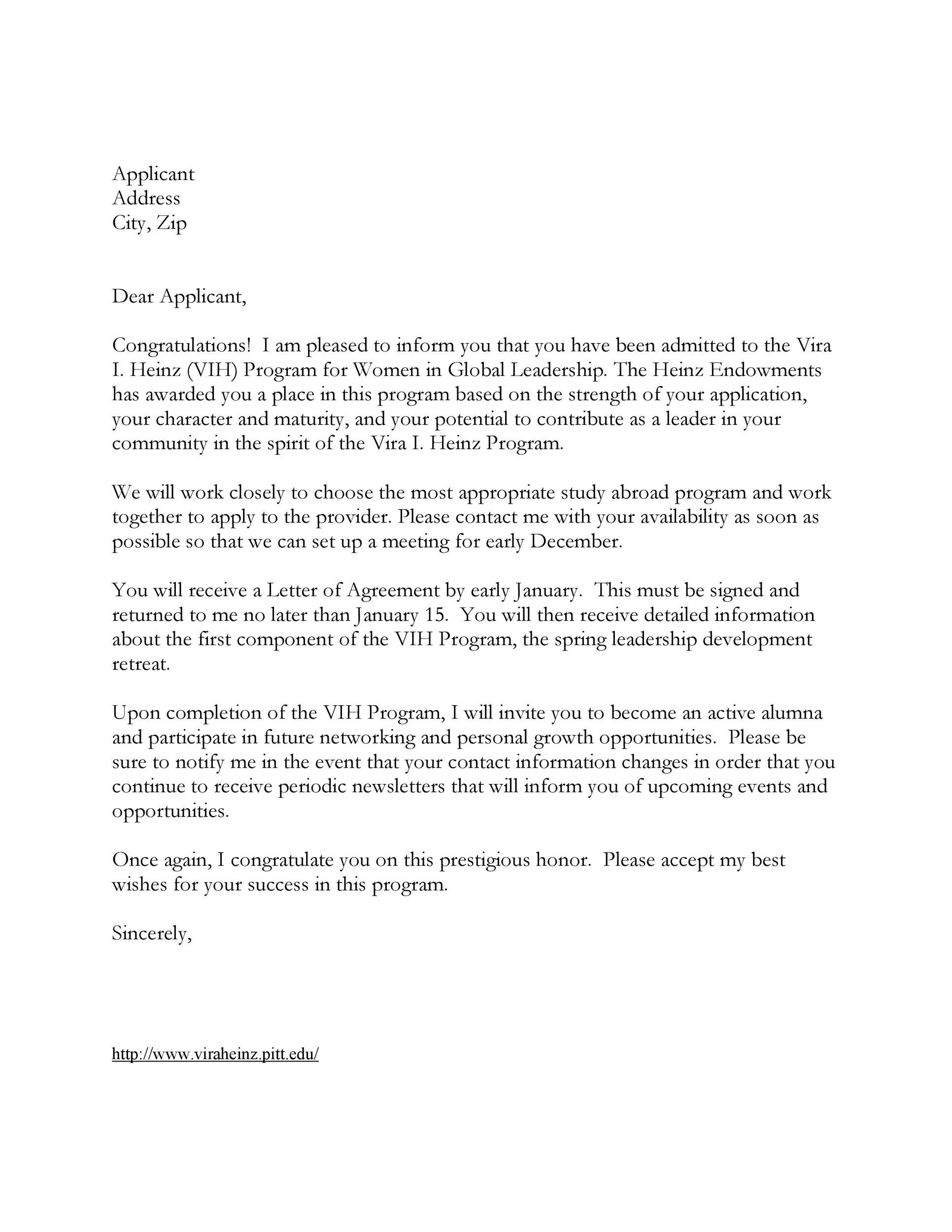 Free congratulations letter 38