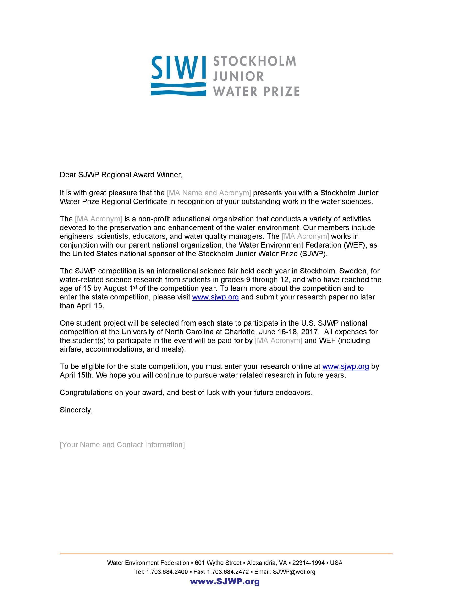 Free congratulations letter 42
