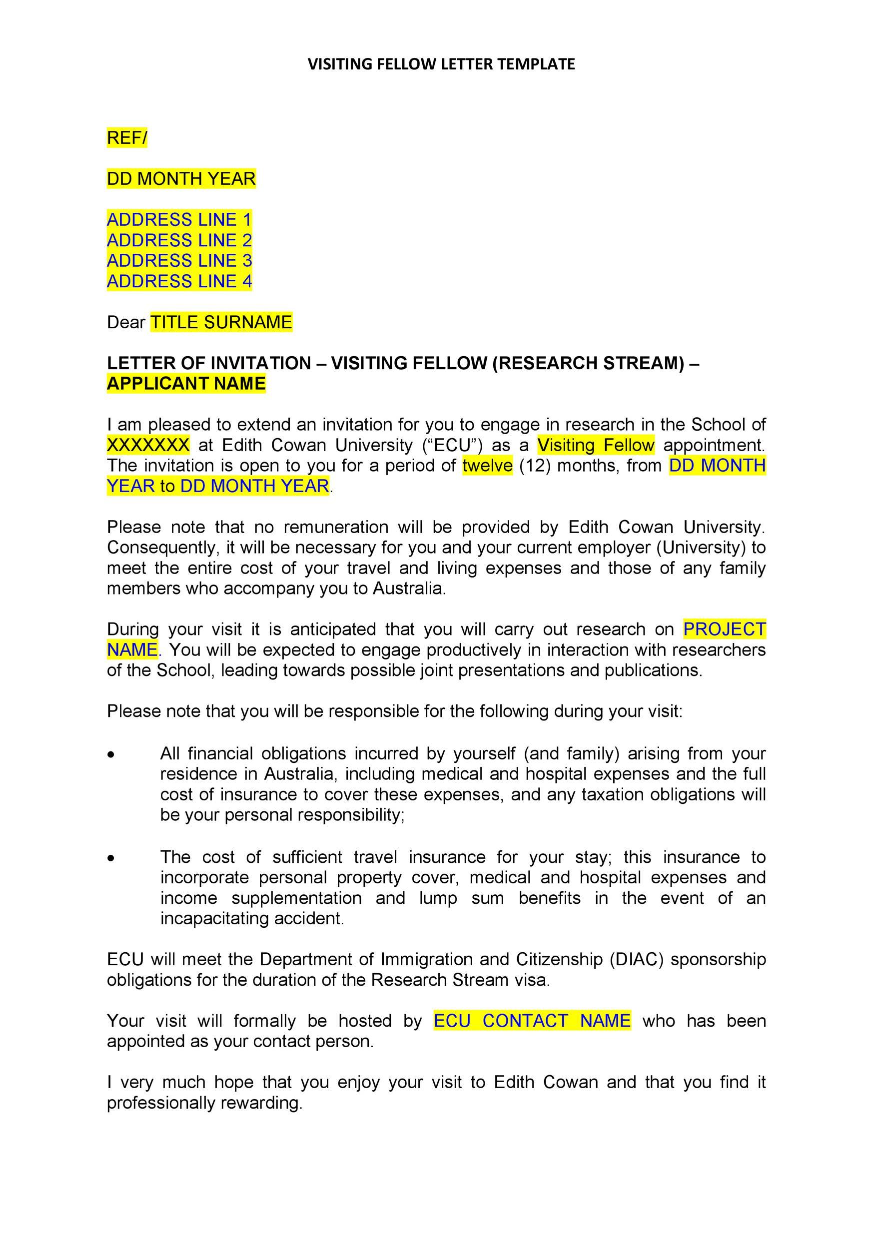 Free invitation letter 09