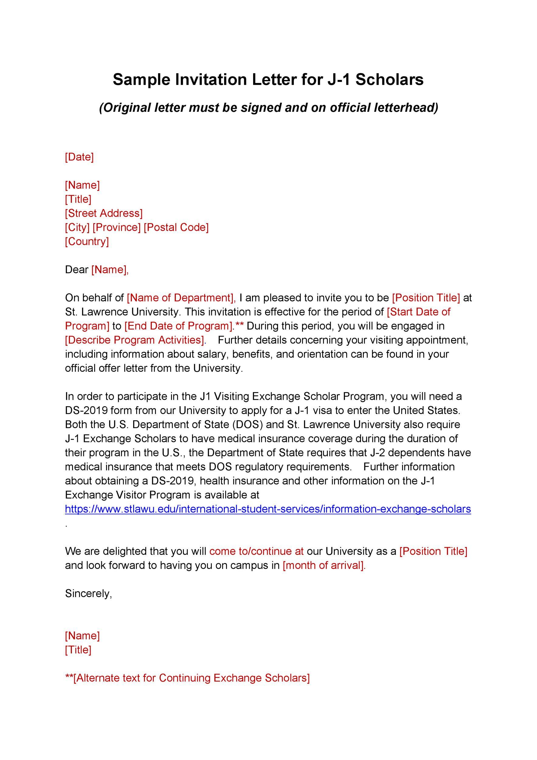 50 Best Invitation Letters For Visa General ᐅ Template Lab
