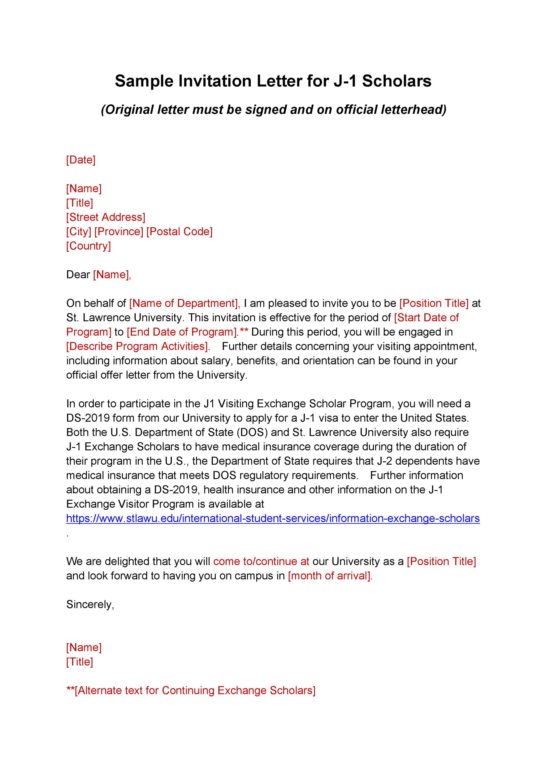 Free invitation letter 12