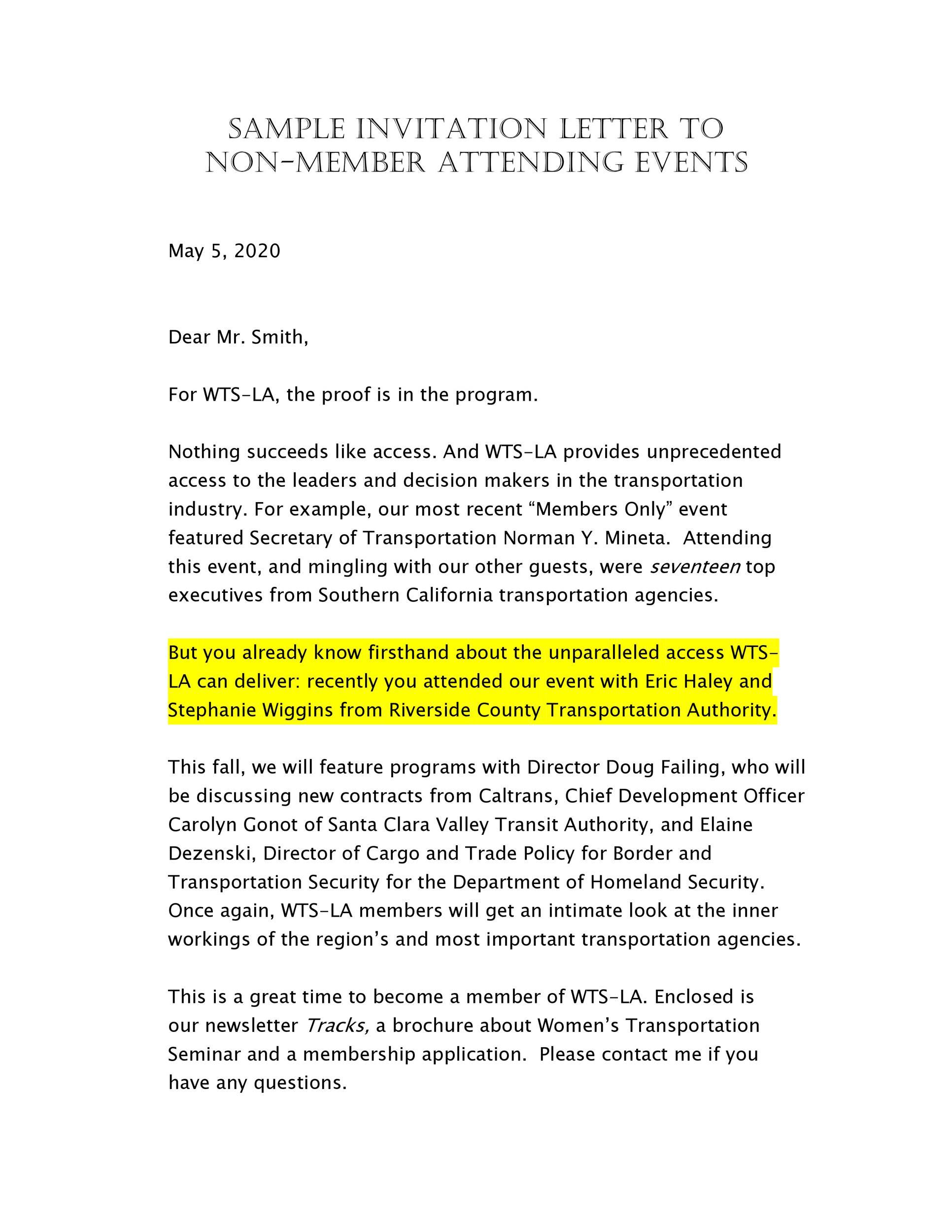 Free invitation letter 16