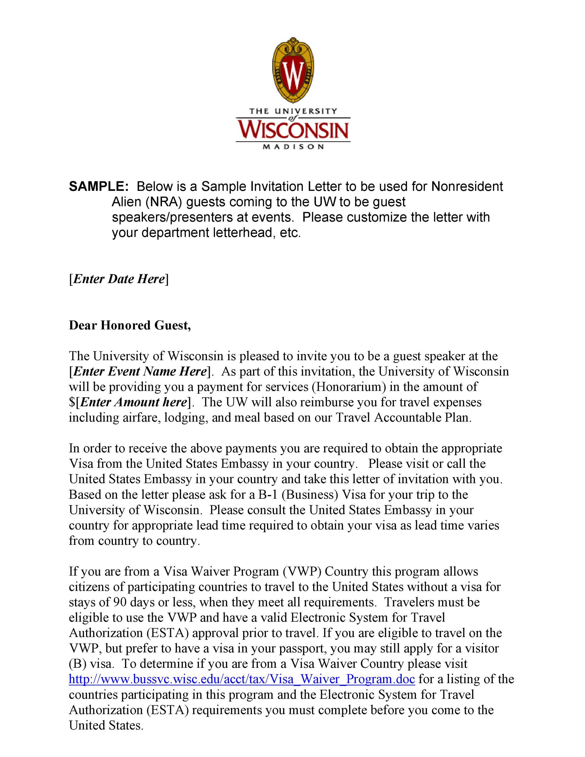 Free invitation letter 19