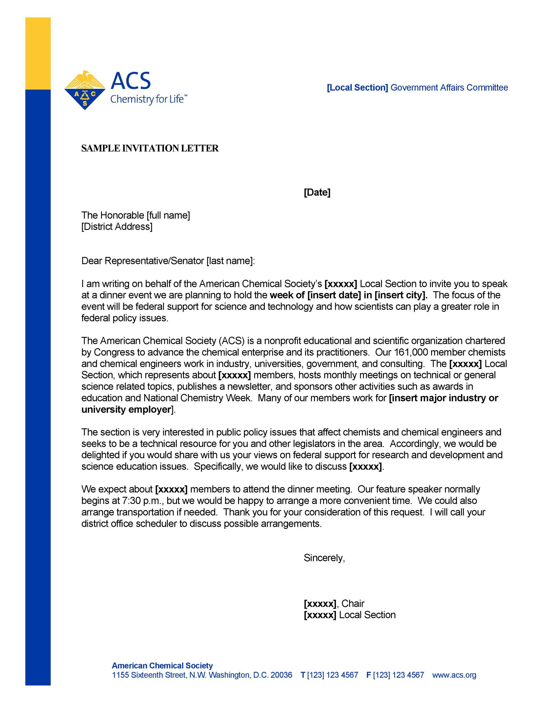 Free invitation letter 22