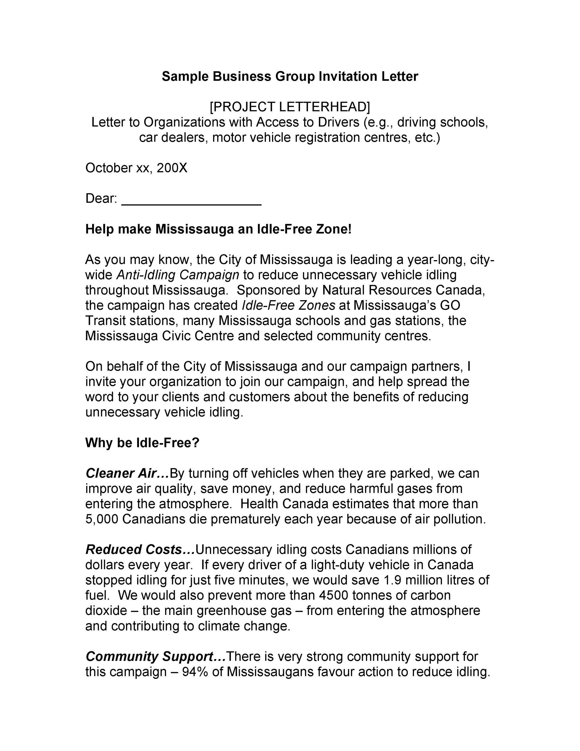 Free invitation letter 24