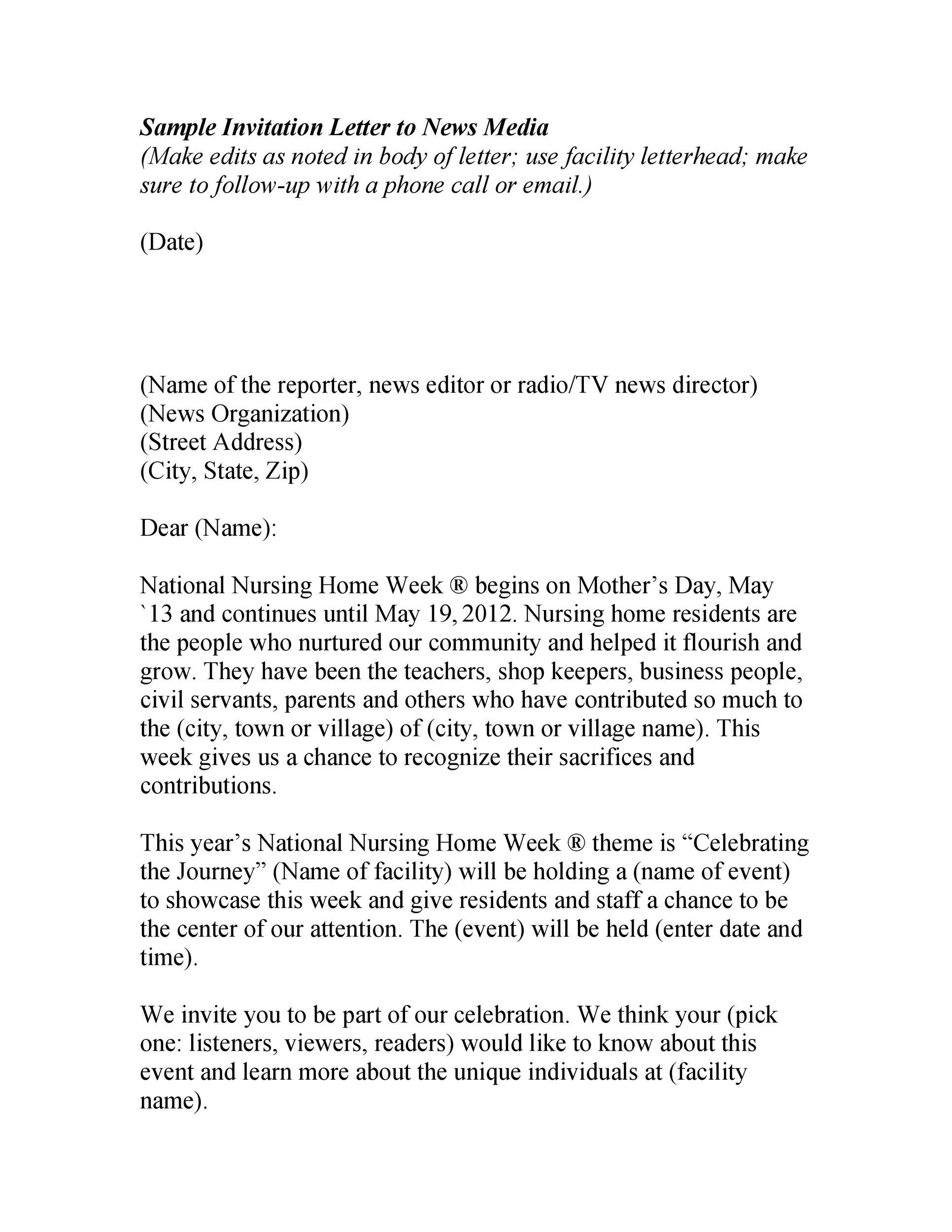 Free invitation letter 25