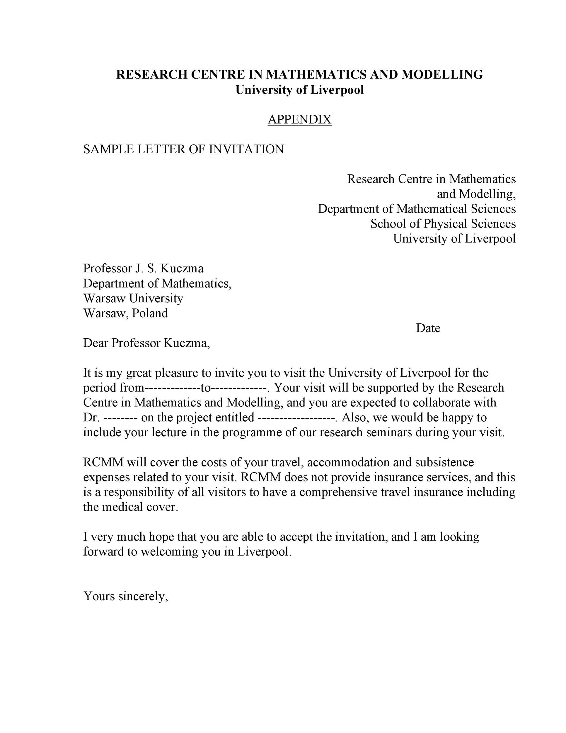 Free invitation letter 27