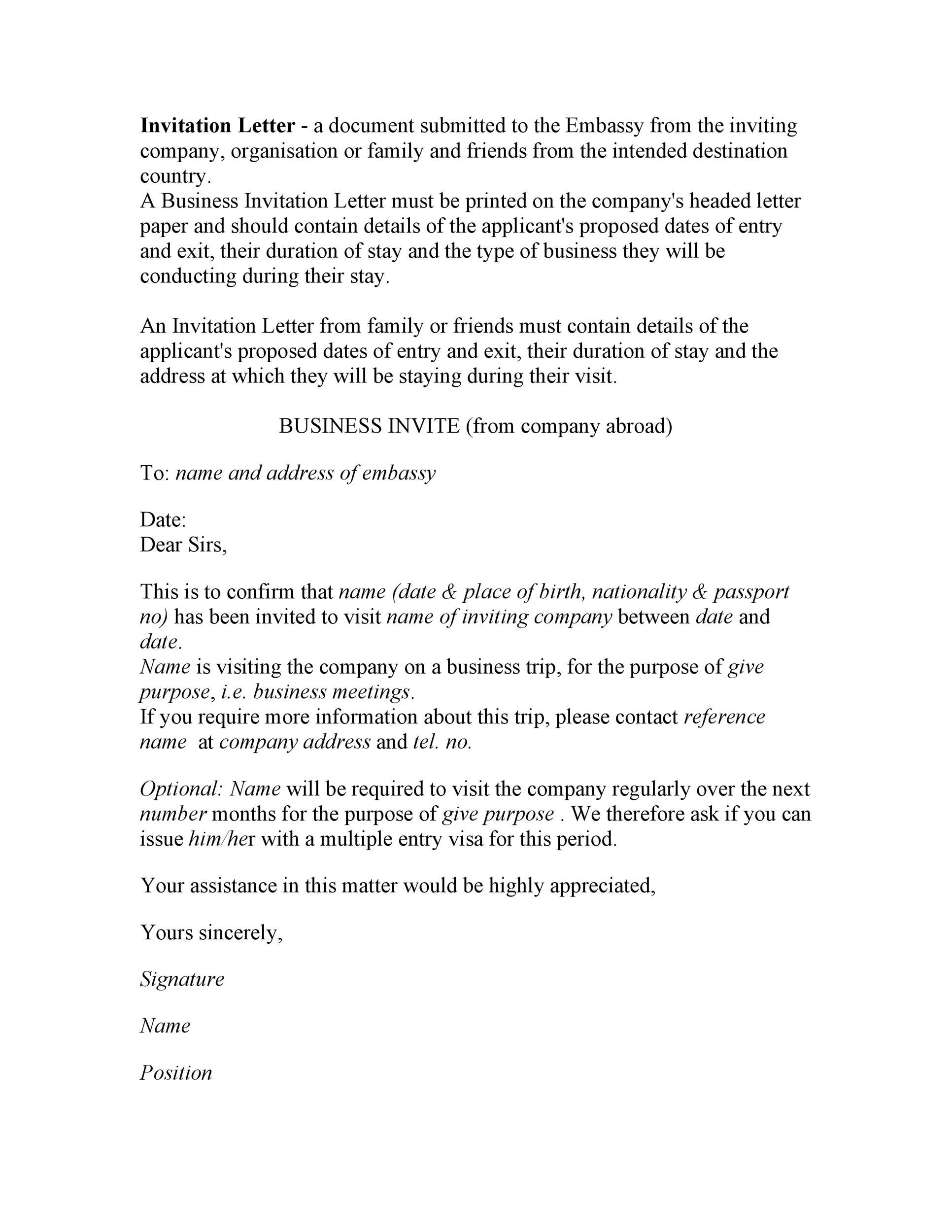 Free invitation letter 31