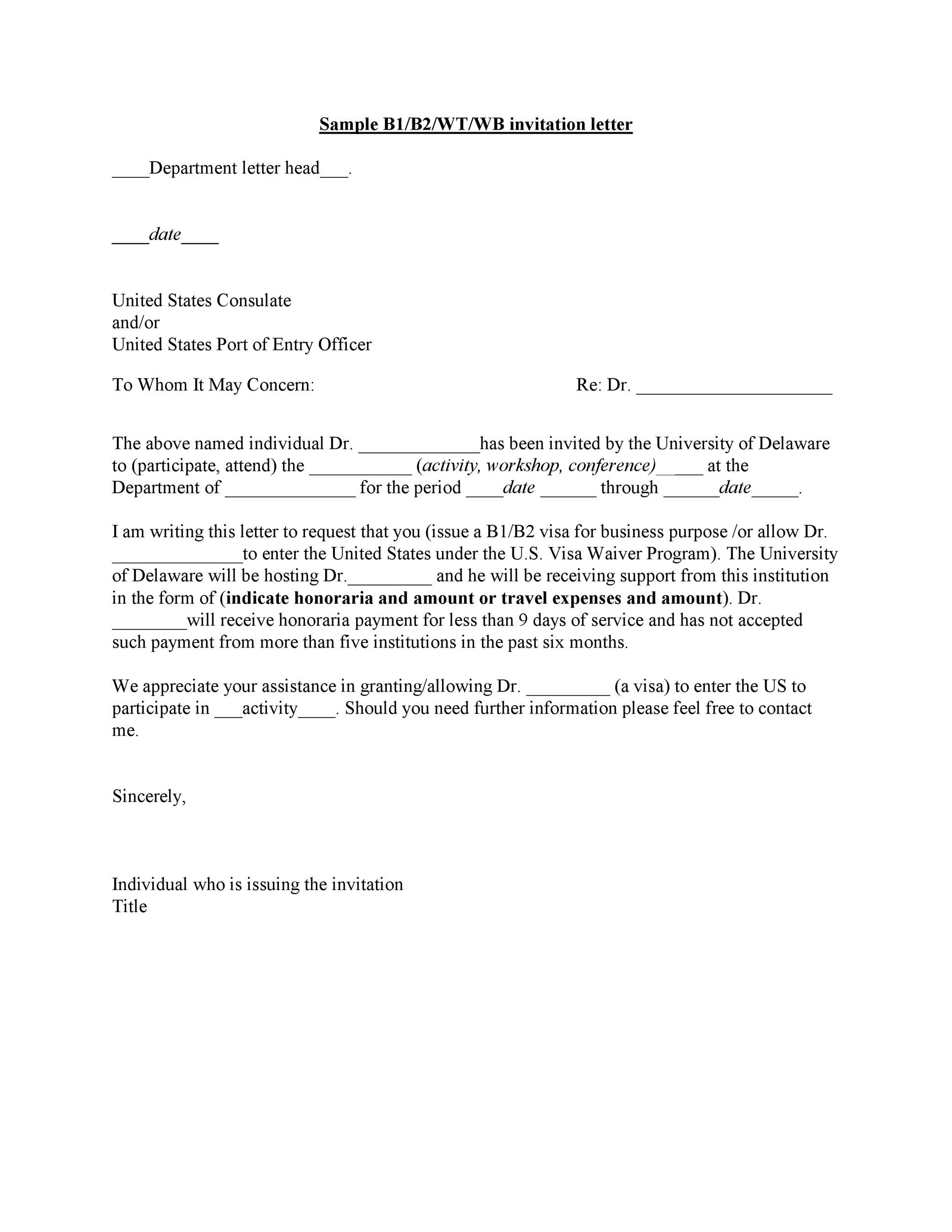 Free invitation letter 32
