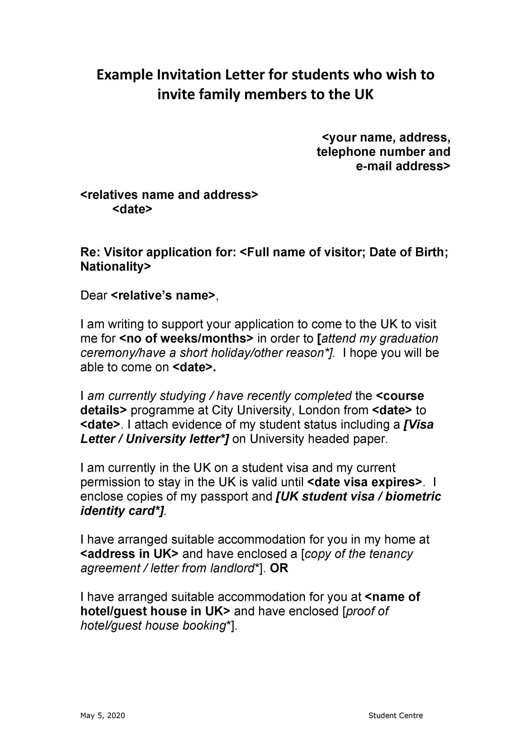 Free invitation letter 36