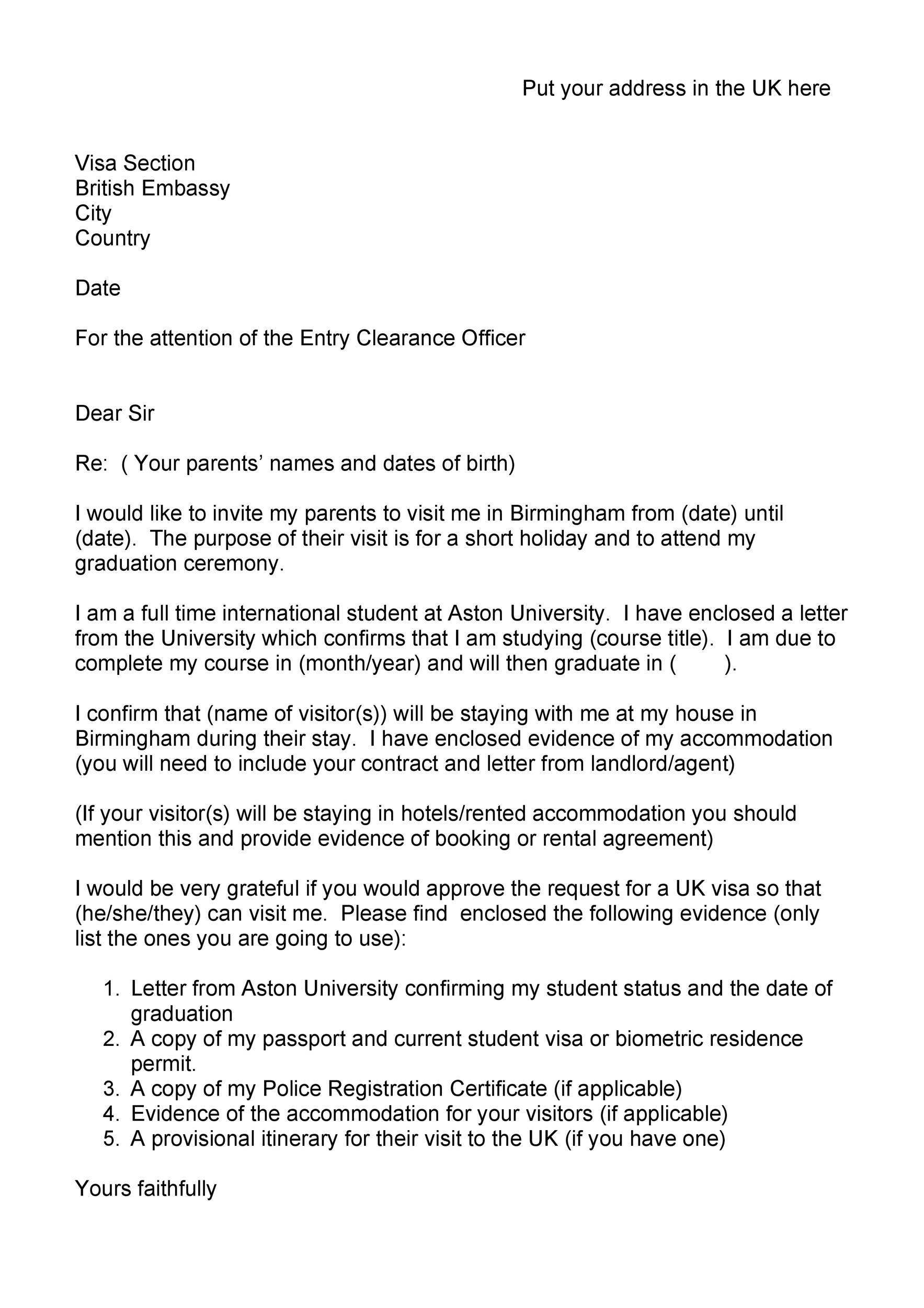 Free invitation letter 37