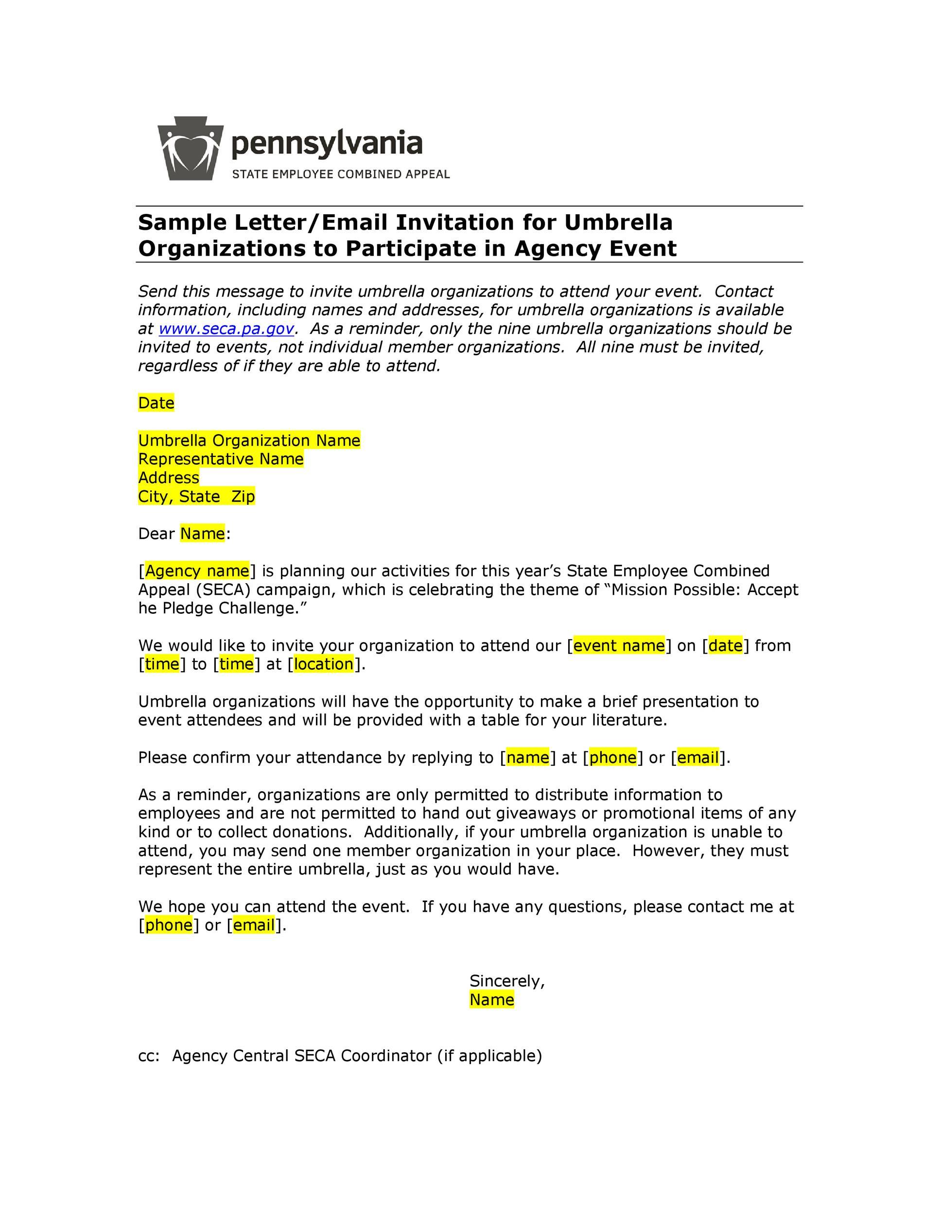 Free invitation letter 39