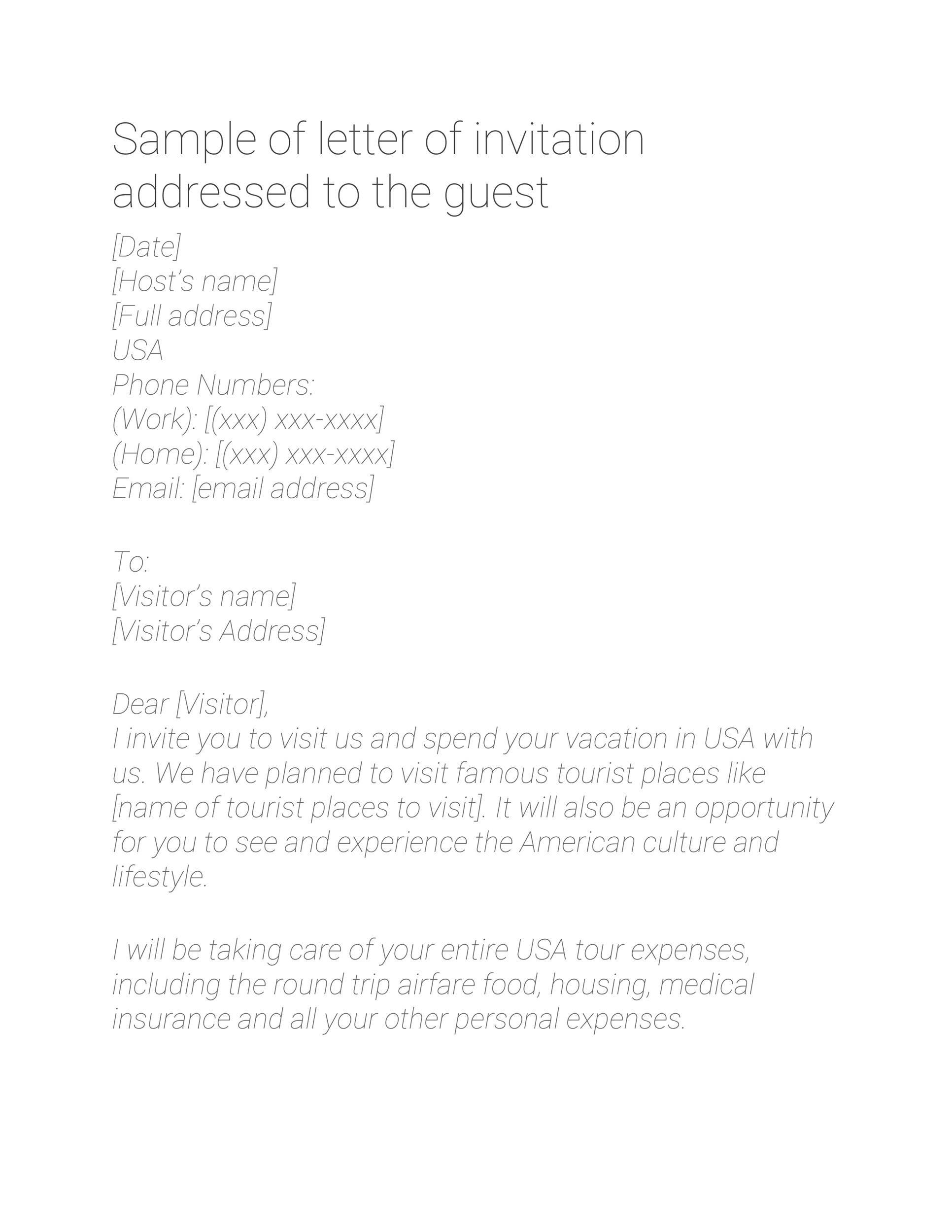 Free invitation letter 41