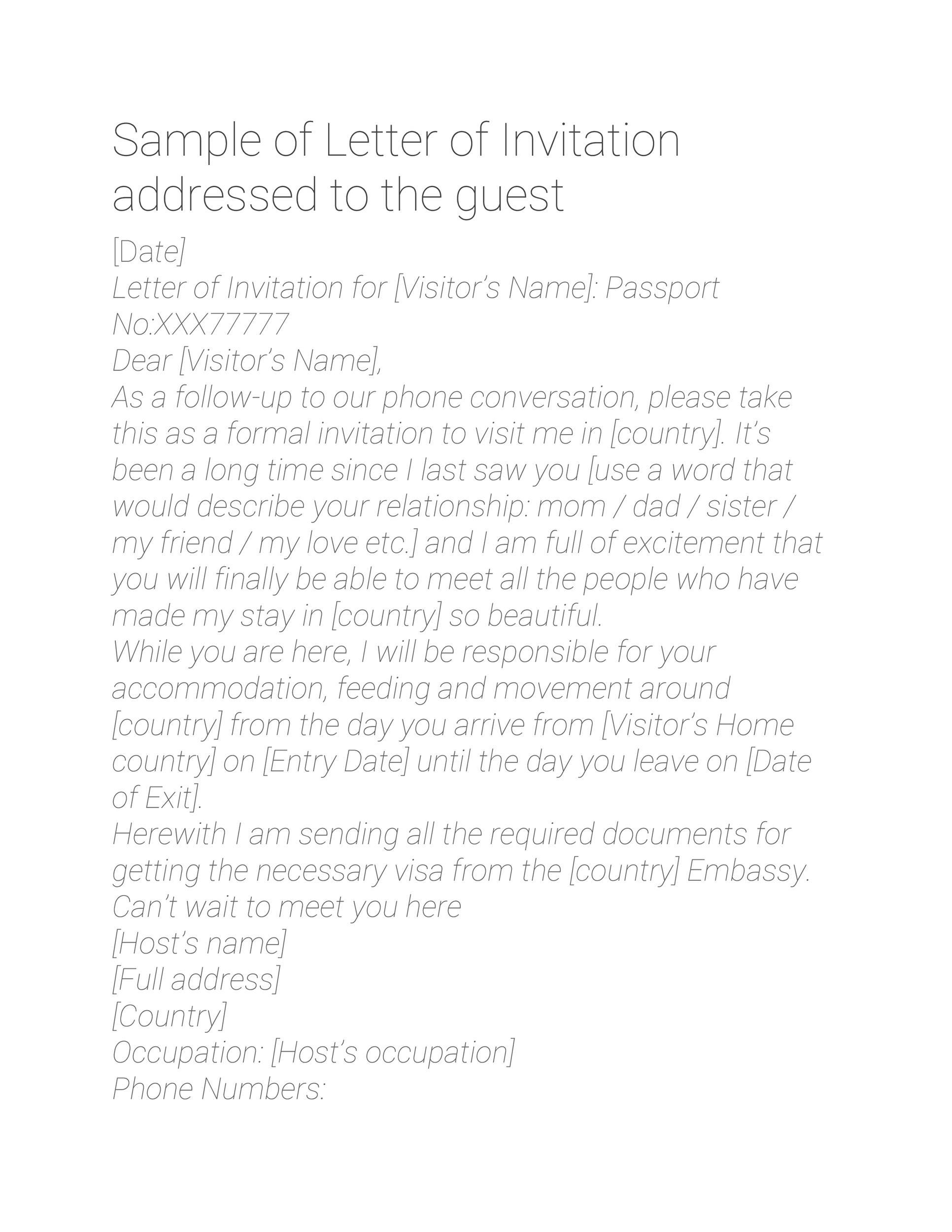 Free invitation letter 43
