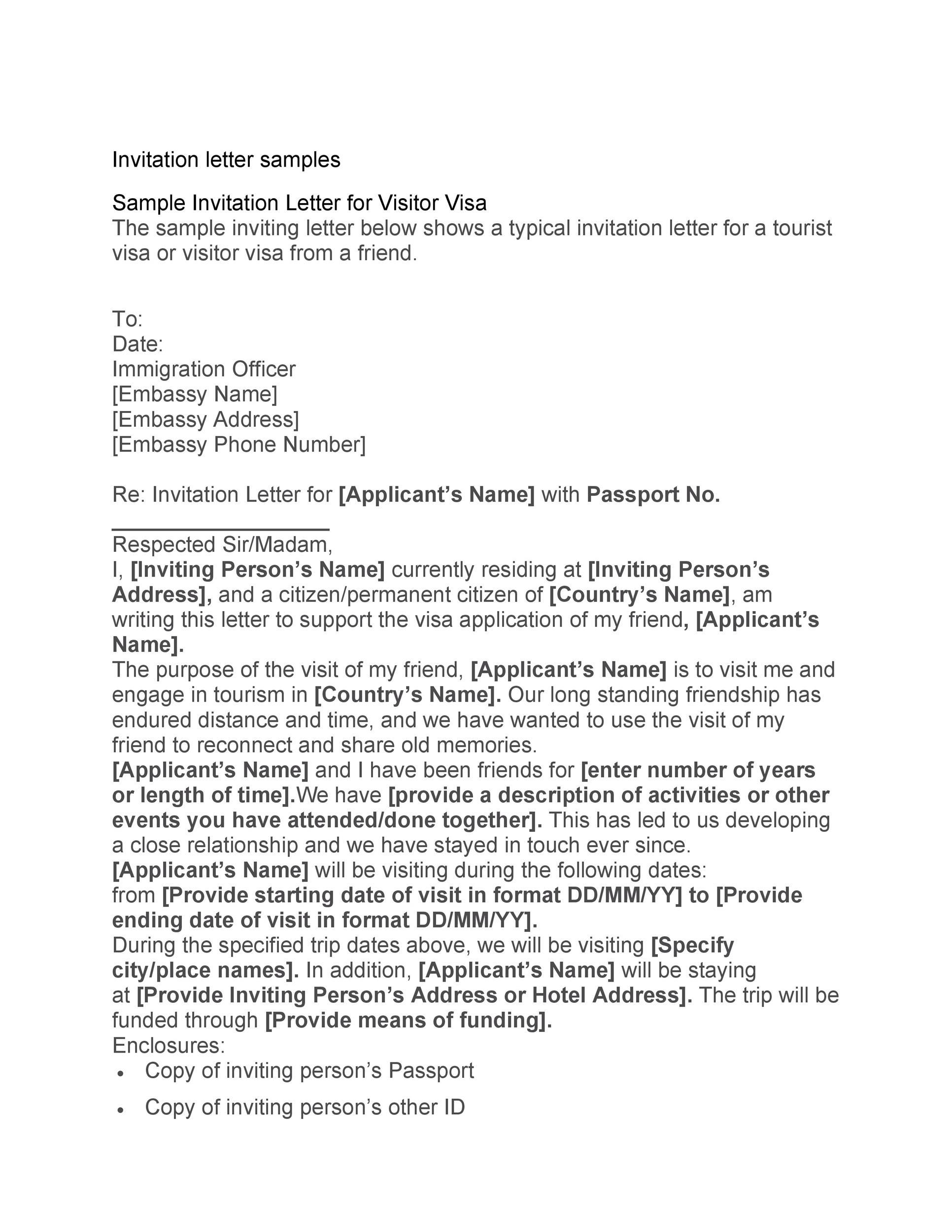 Free invitation letter 44
