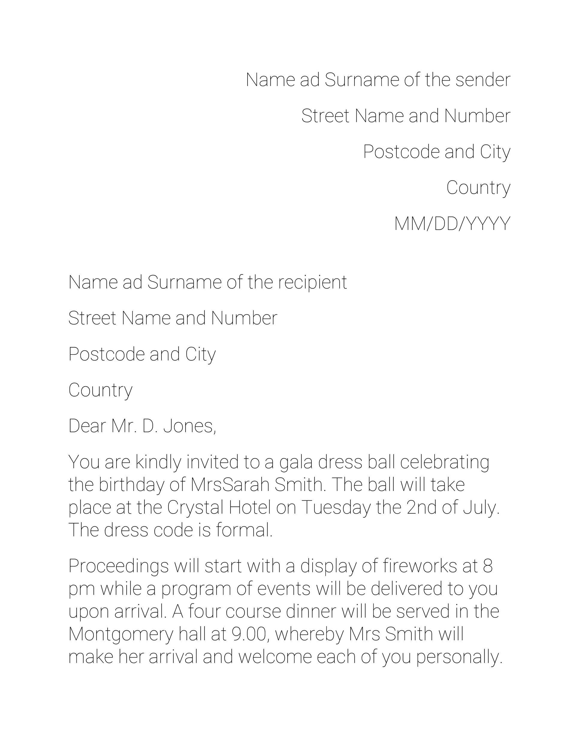 Free invitation letter 49