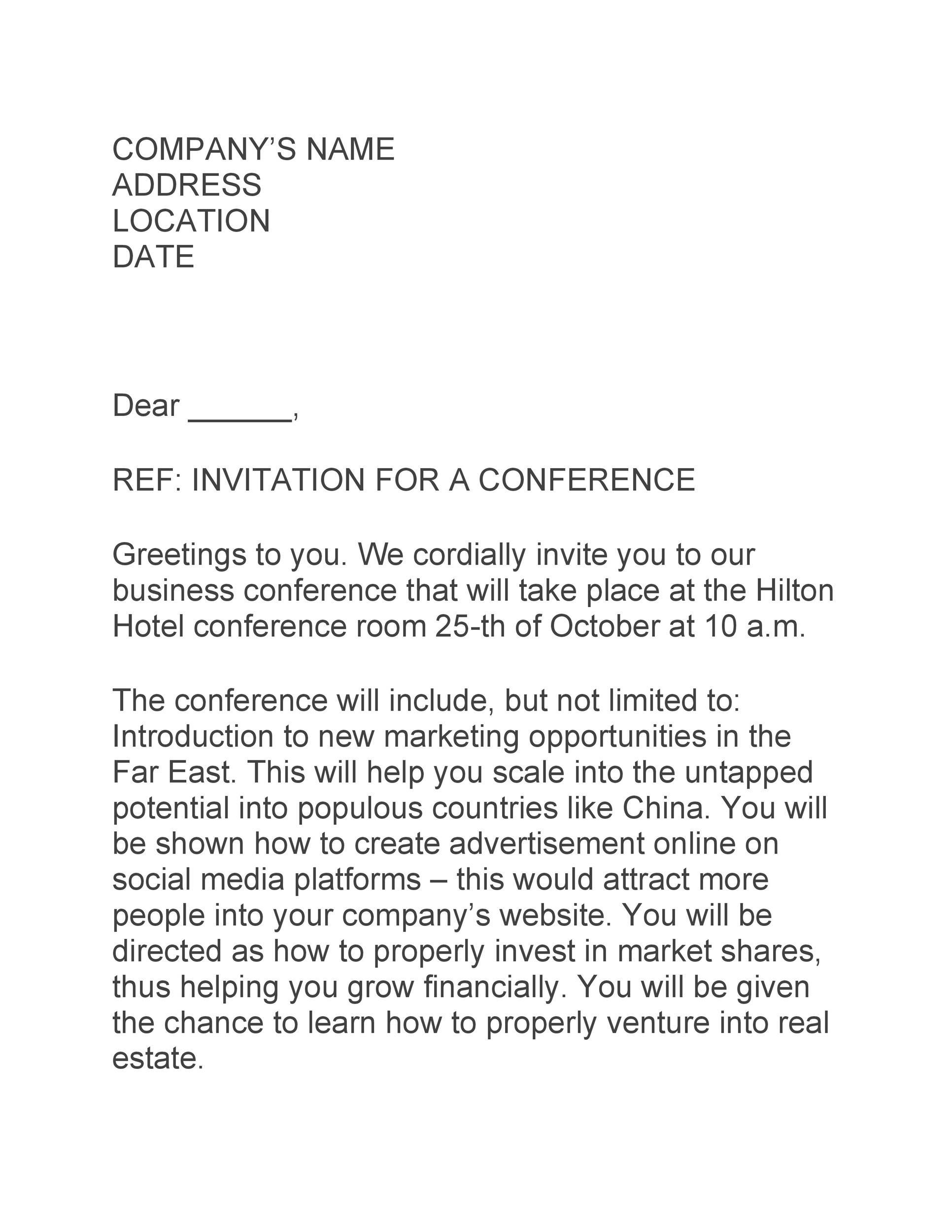 Free invitation letter 50
