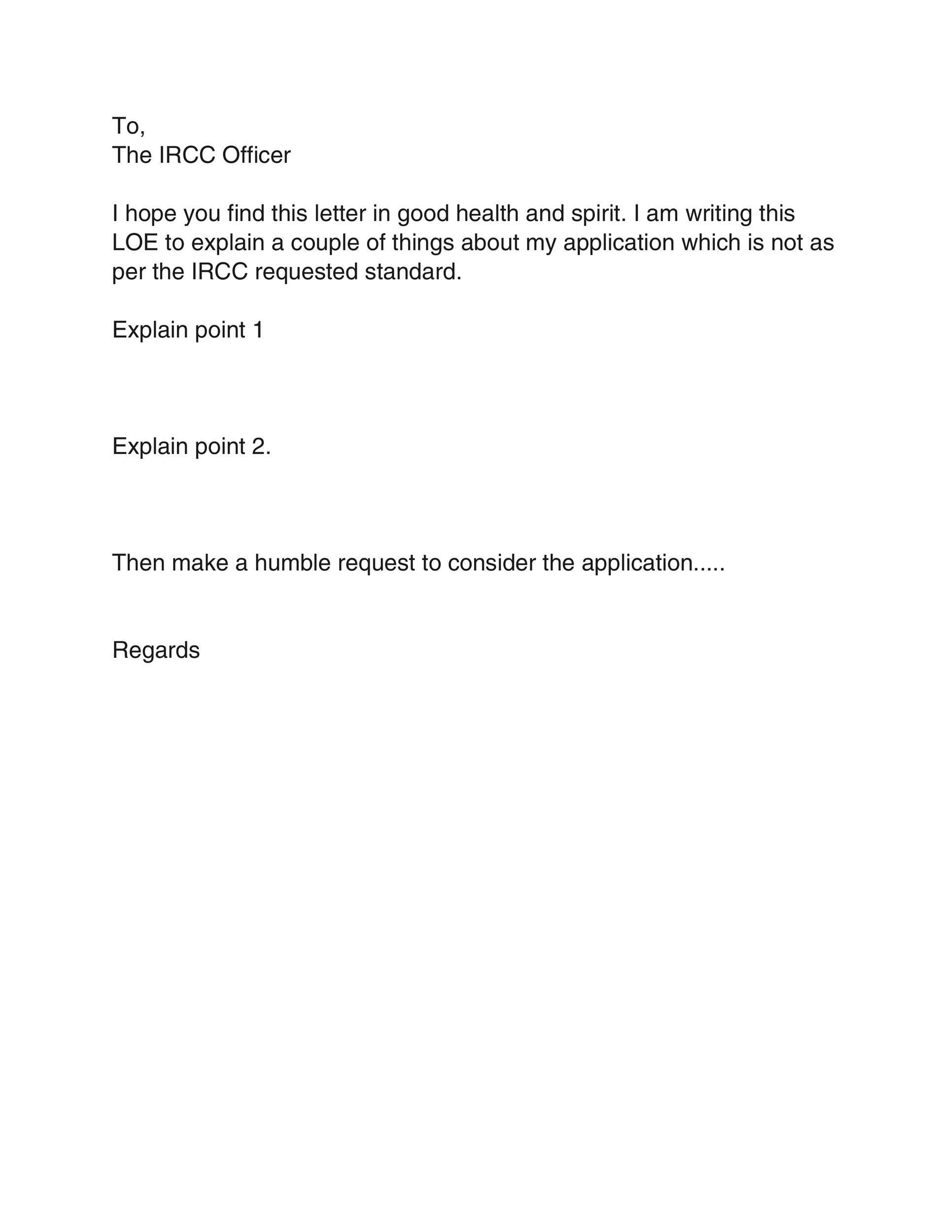 Free letter of explanation 08