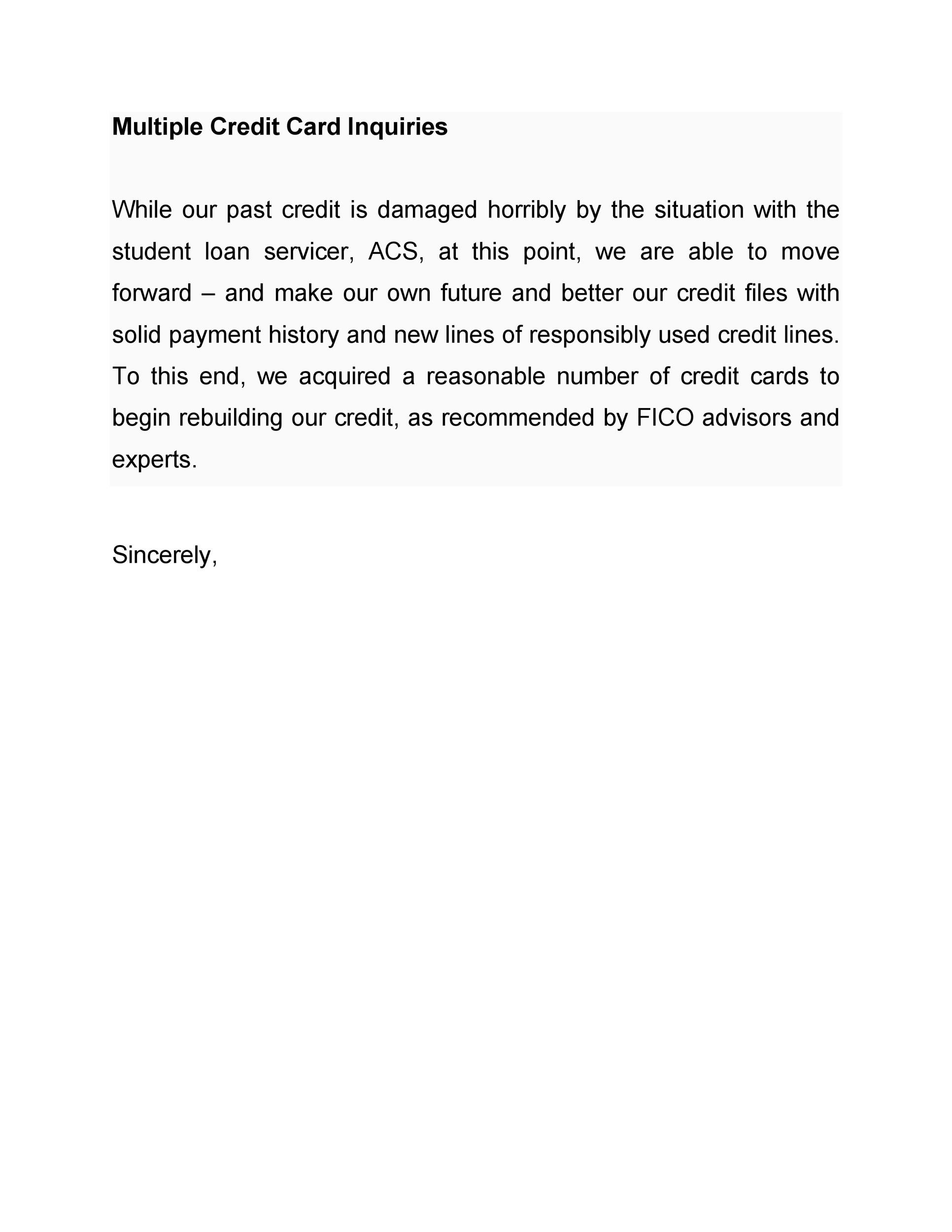 Credit Explanation Letter For Mortgage from templatelab.com