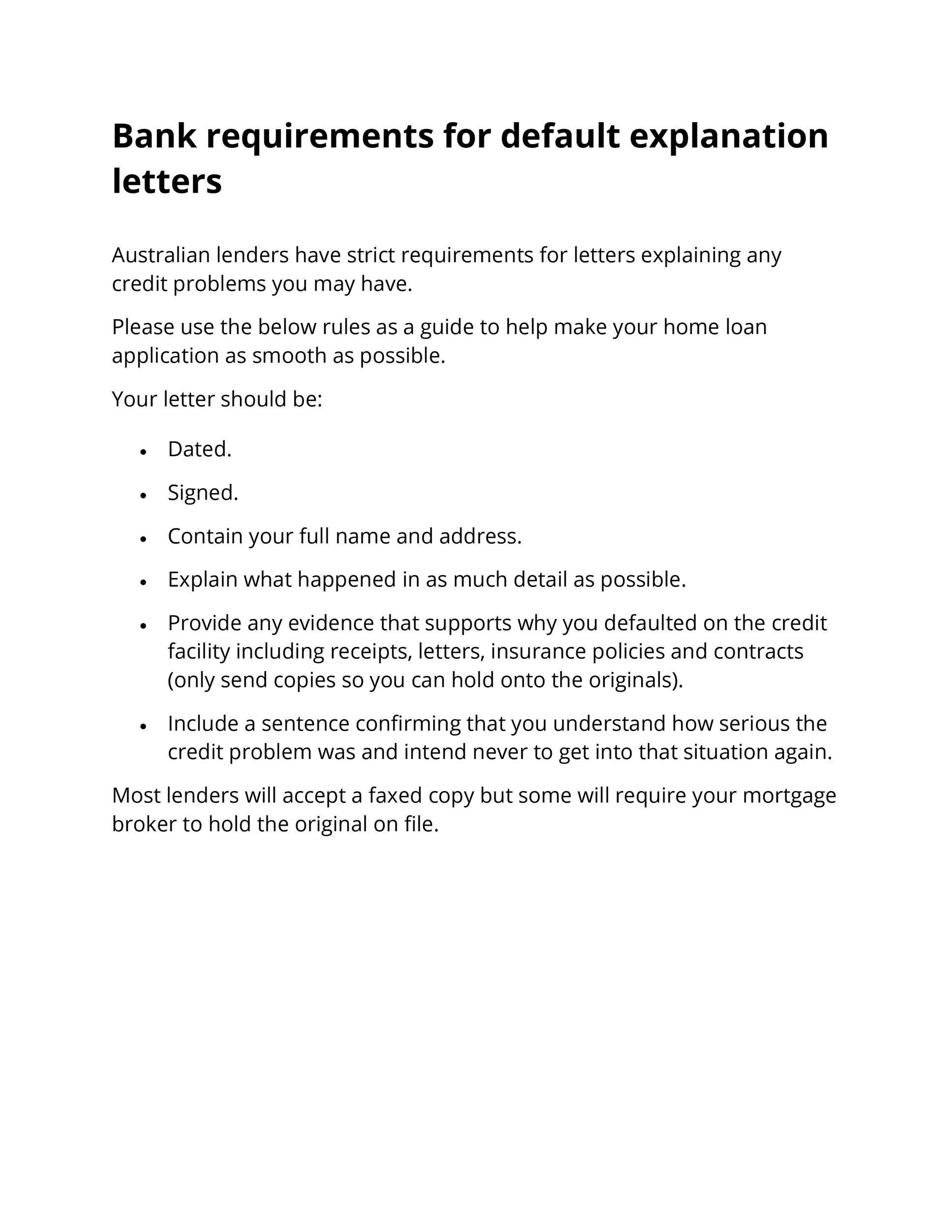48 Letters Of Explanation Templates (Mortgage, Derogatory