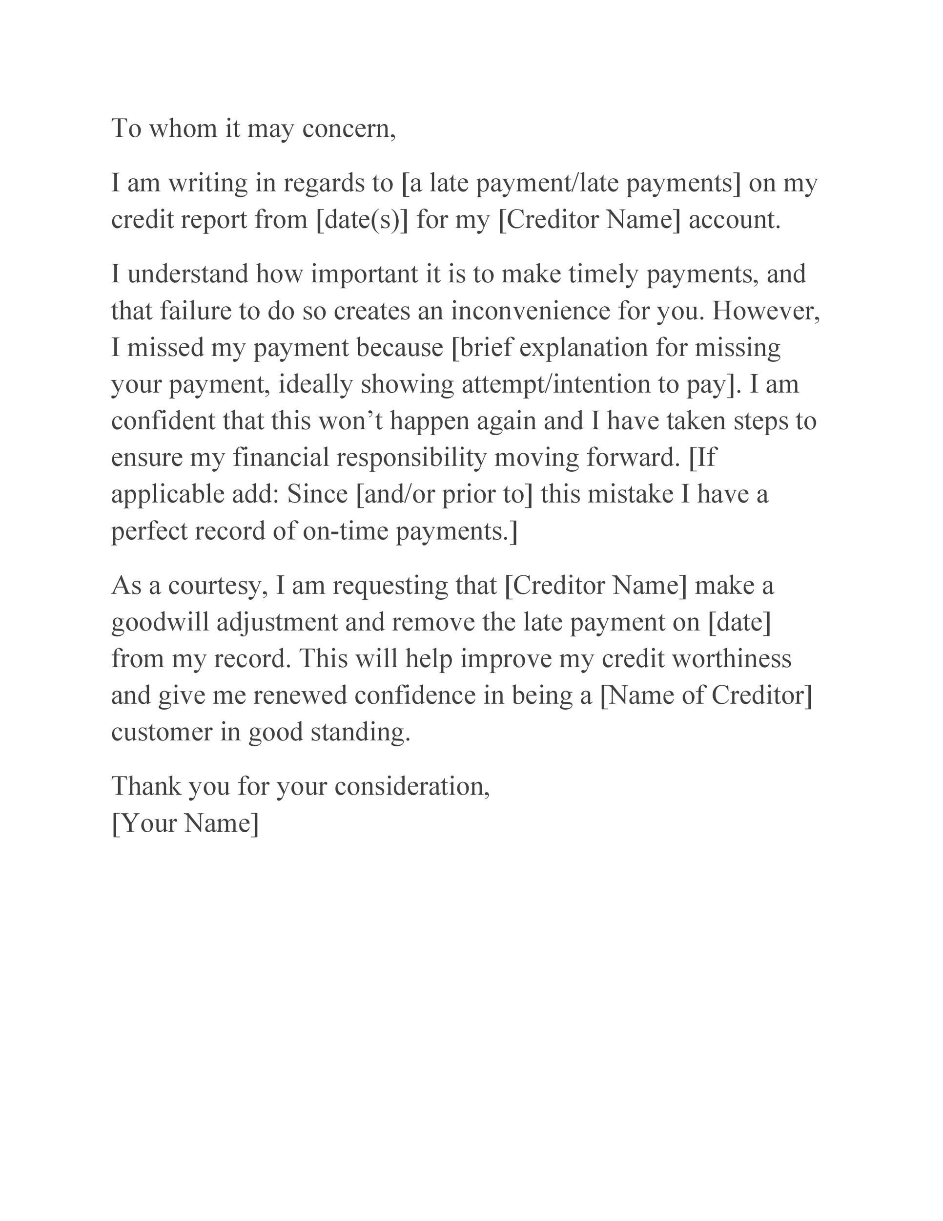 Free letter of explanation 28