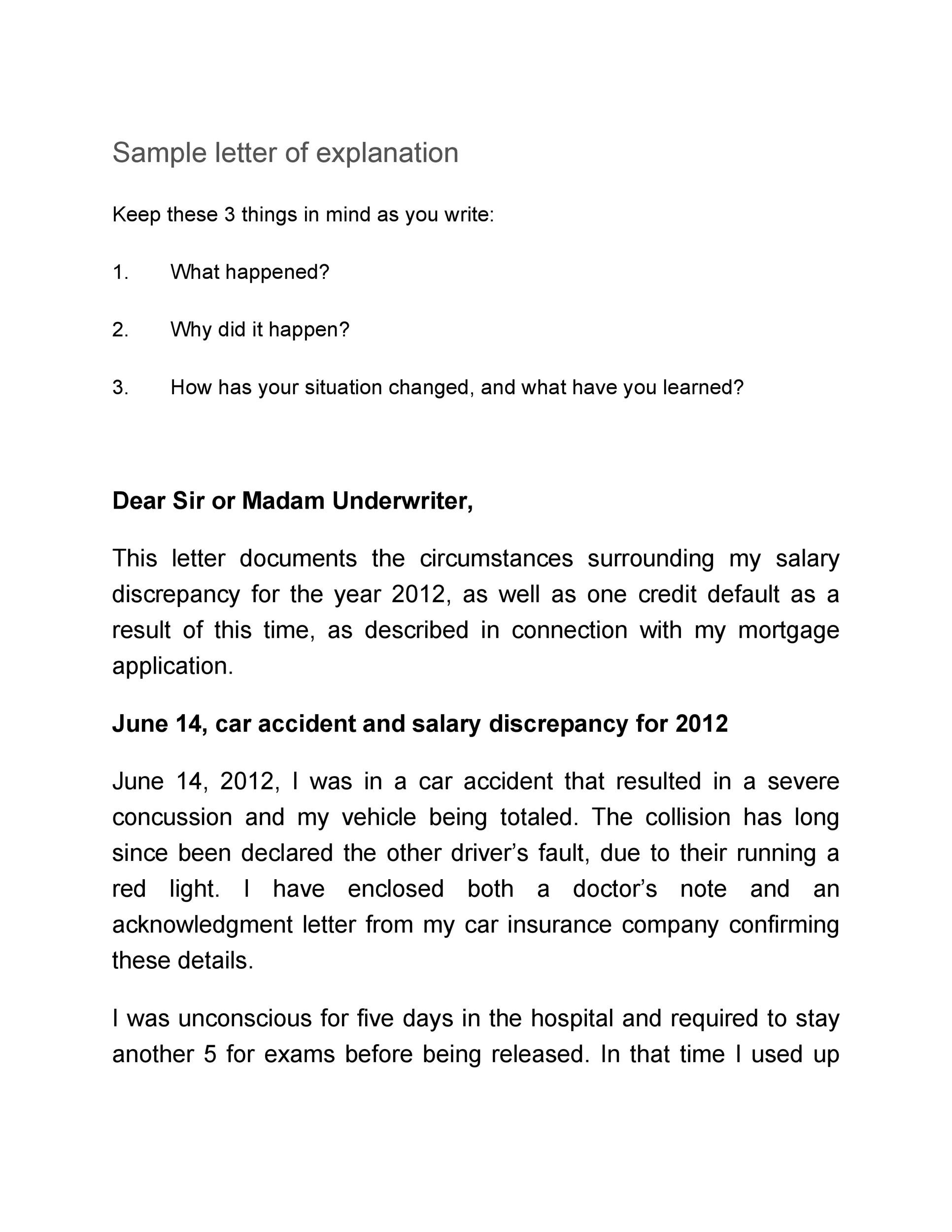 Free letter of explanation 29