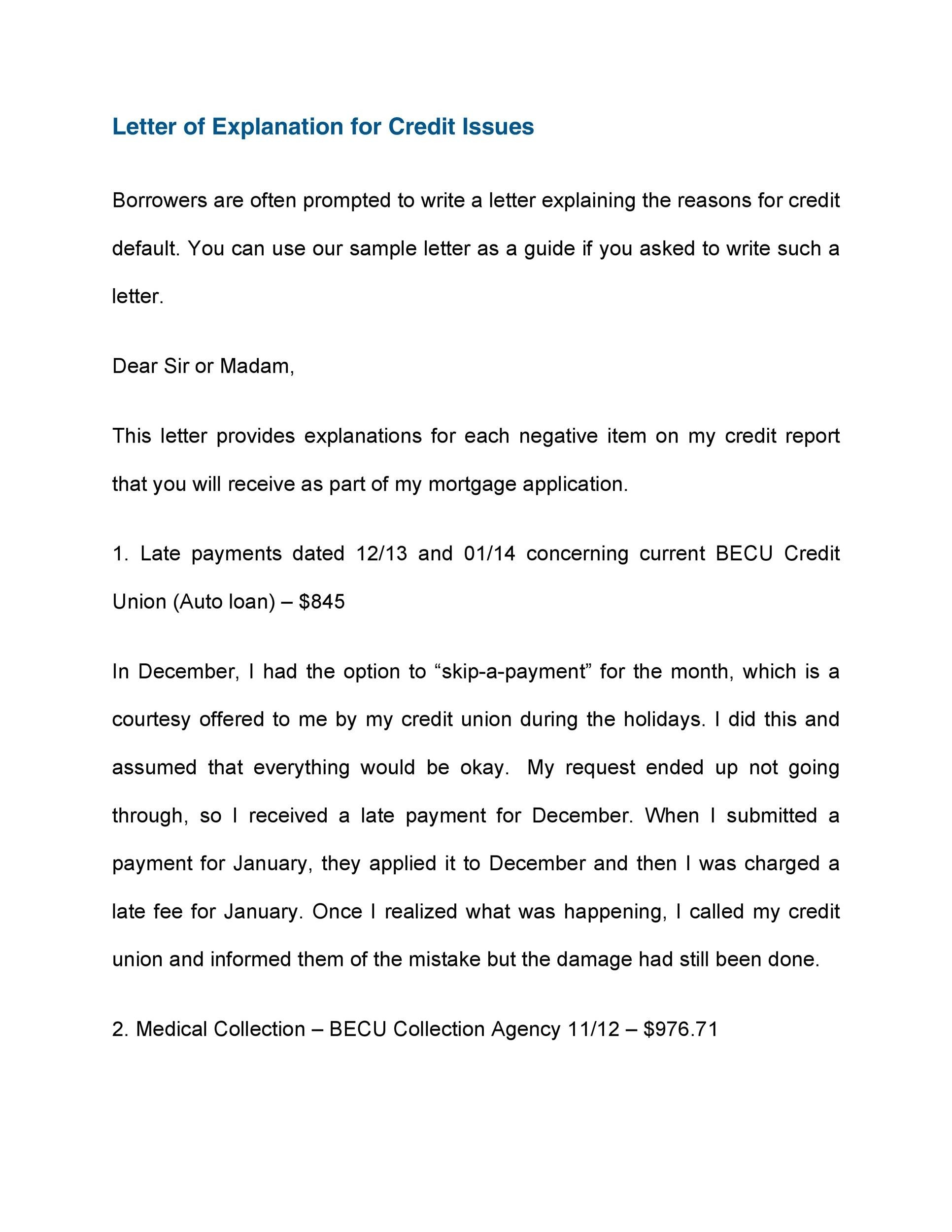 letter of explanation for medical bills sample letter explaining late payments 26534 | letter of explanation 34