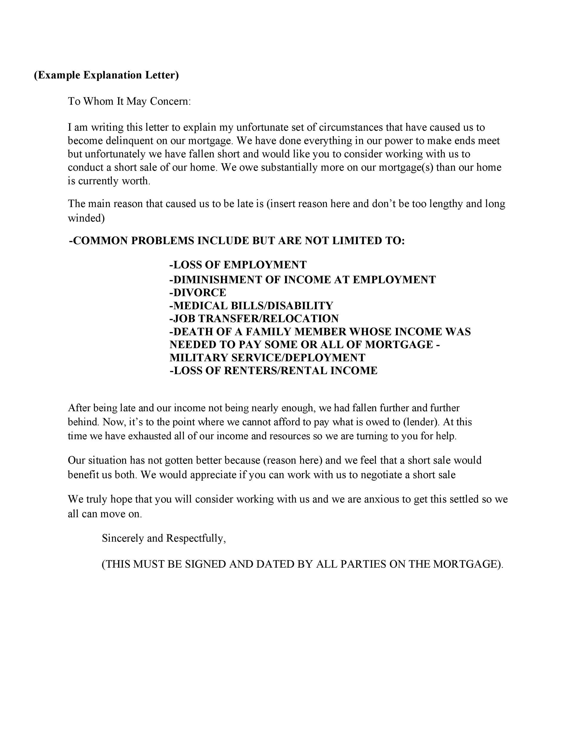 Letter Explanation Derogatory Credit from templatelab.com