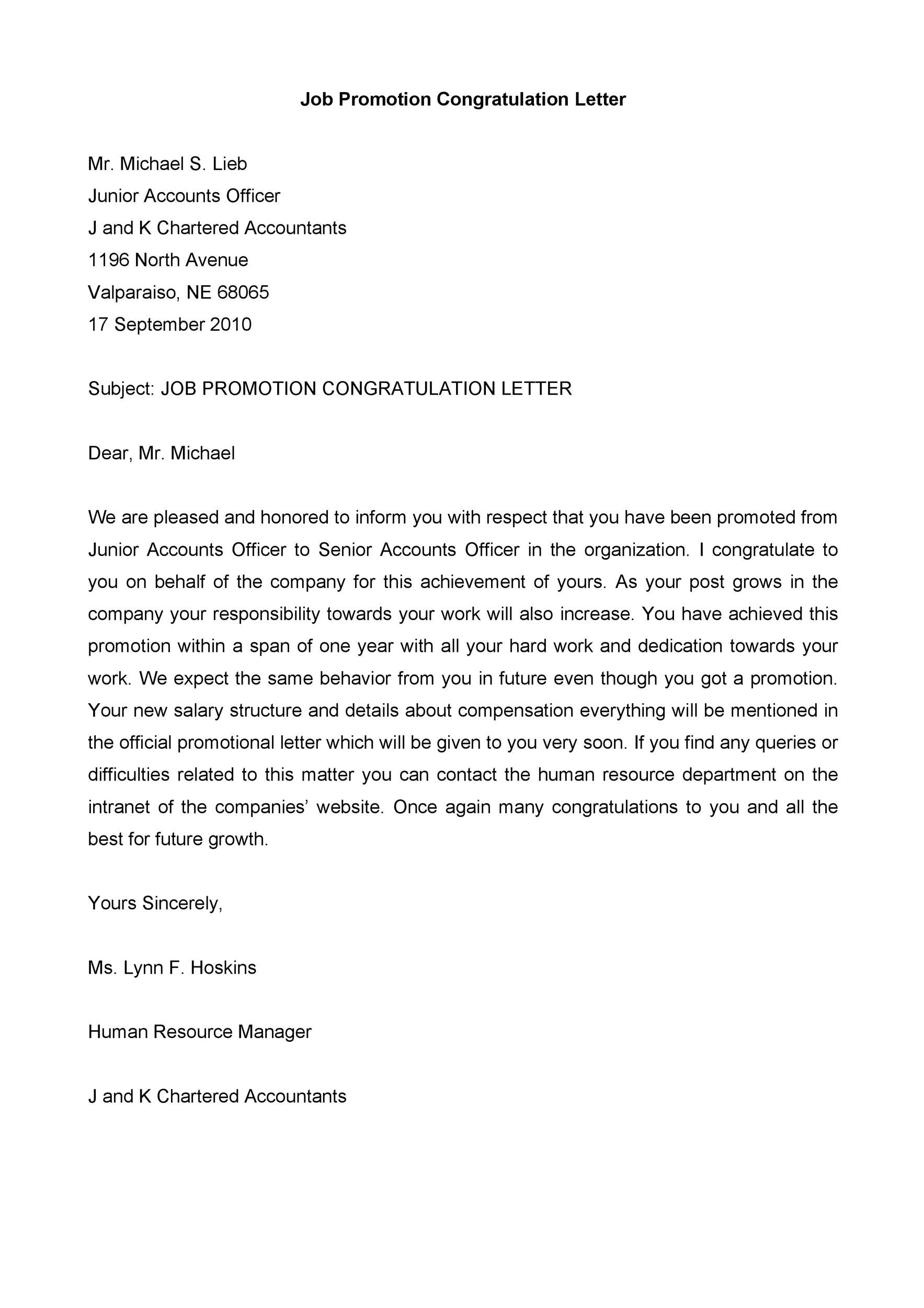 Free promotion letter 02