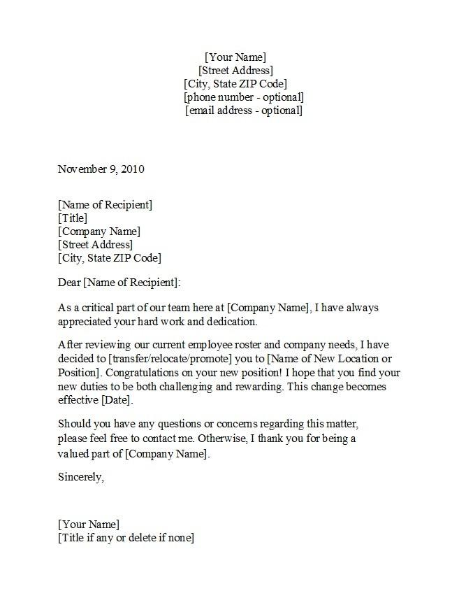 Free promotion letter 06
