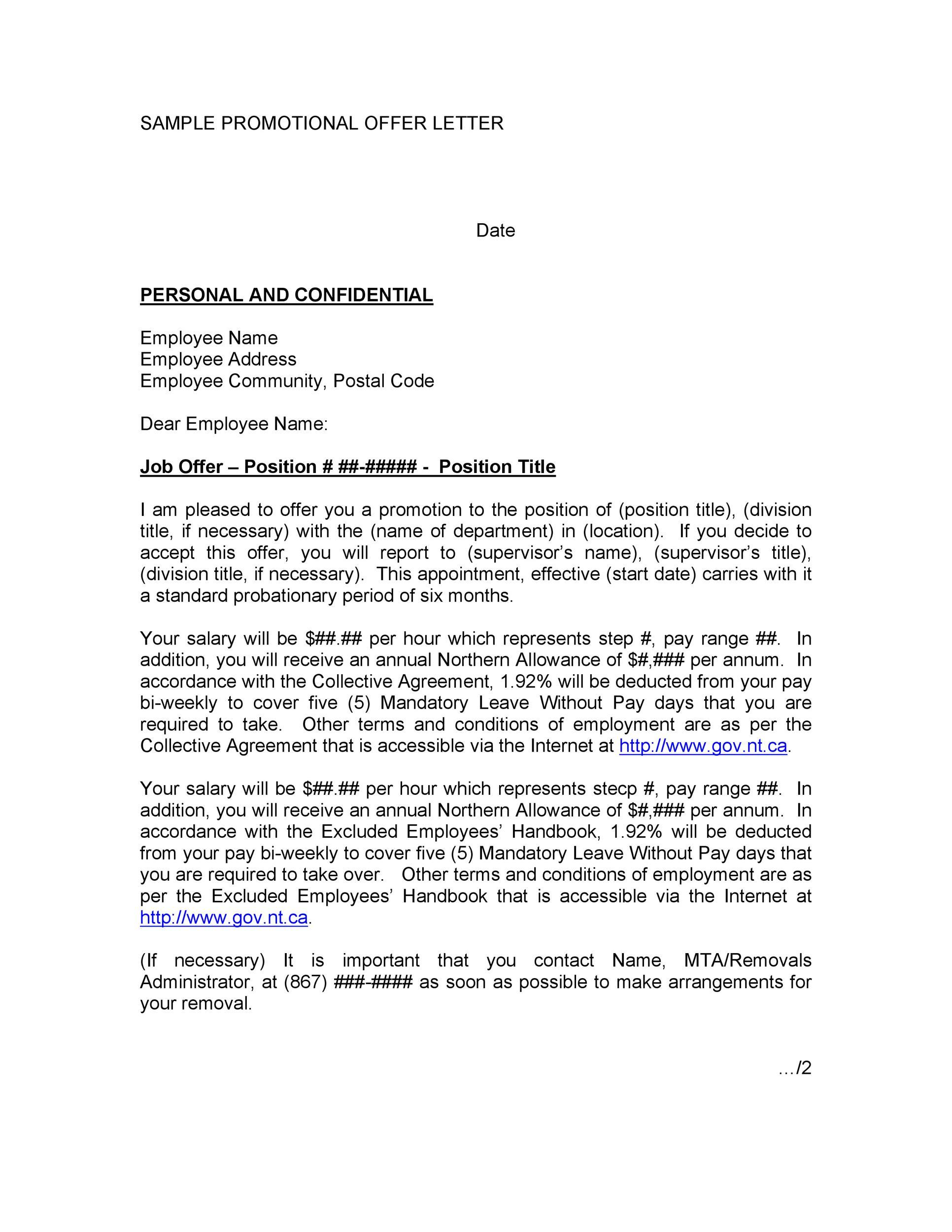 Free promotion letter 07