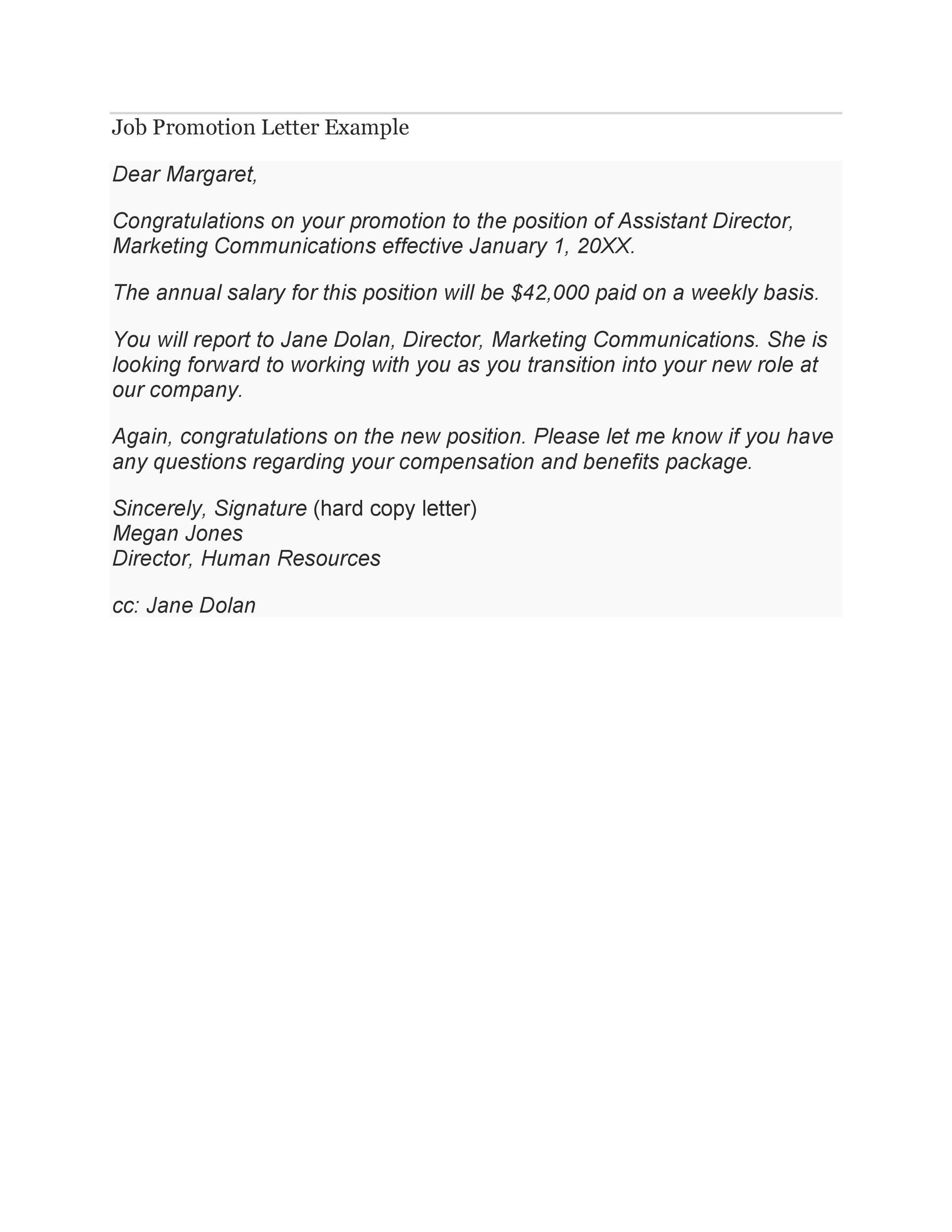 Free promotion letter 08