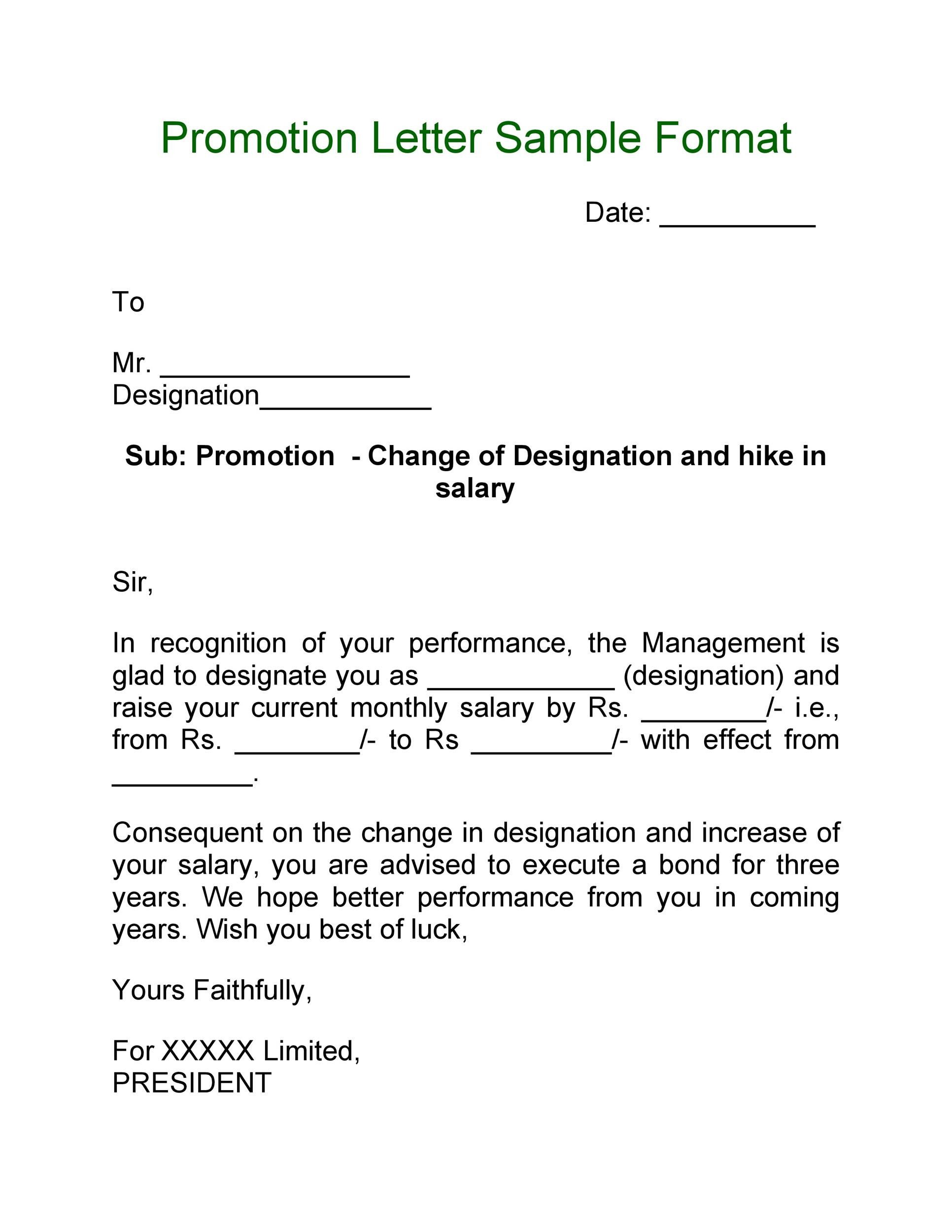 Free promotion letter 14