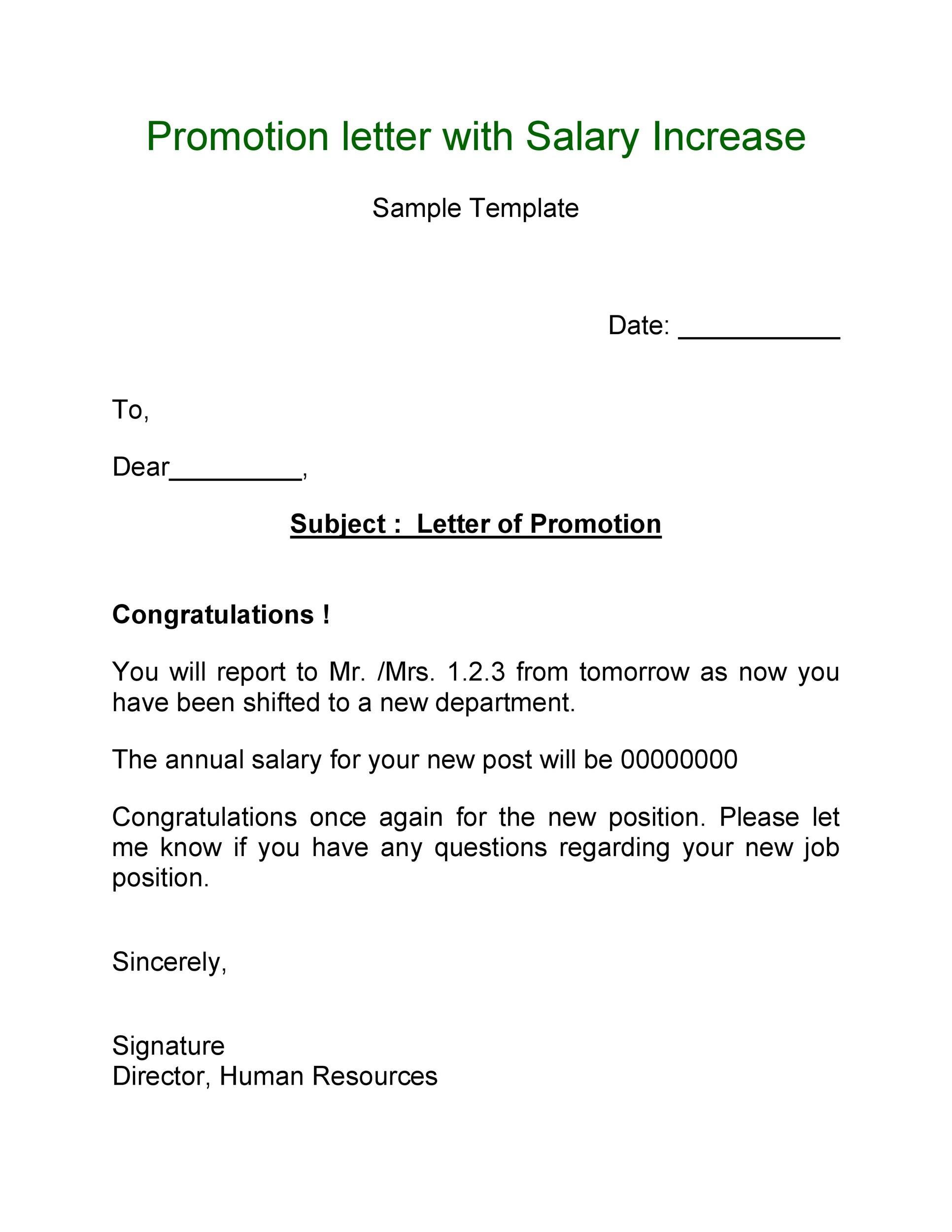 Free promotion letter 15