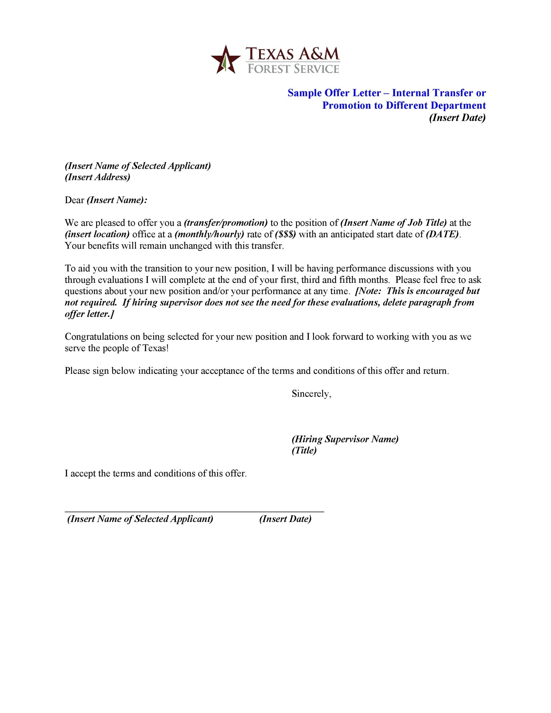 Free promotion letter 21