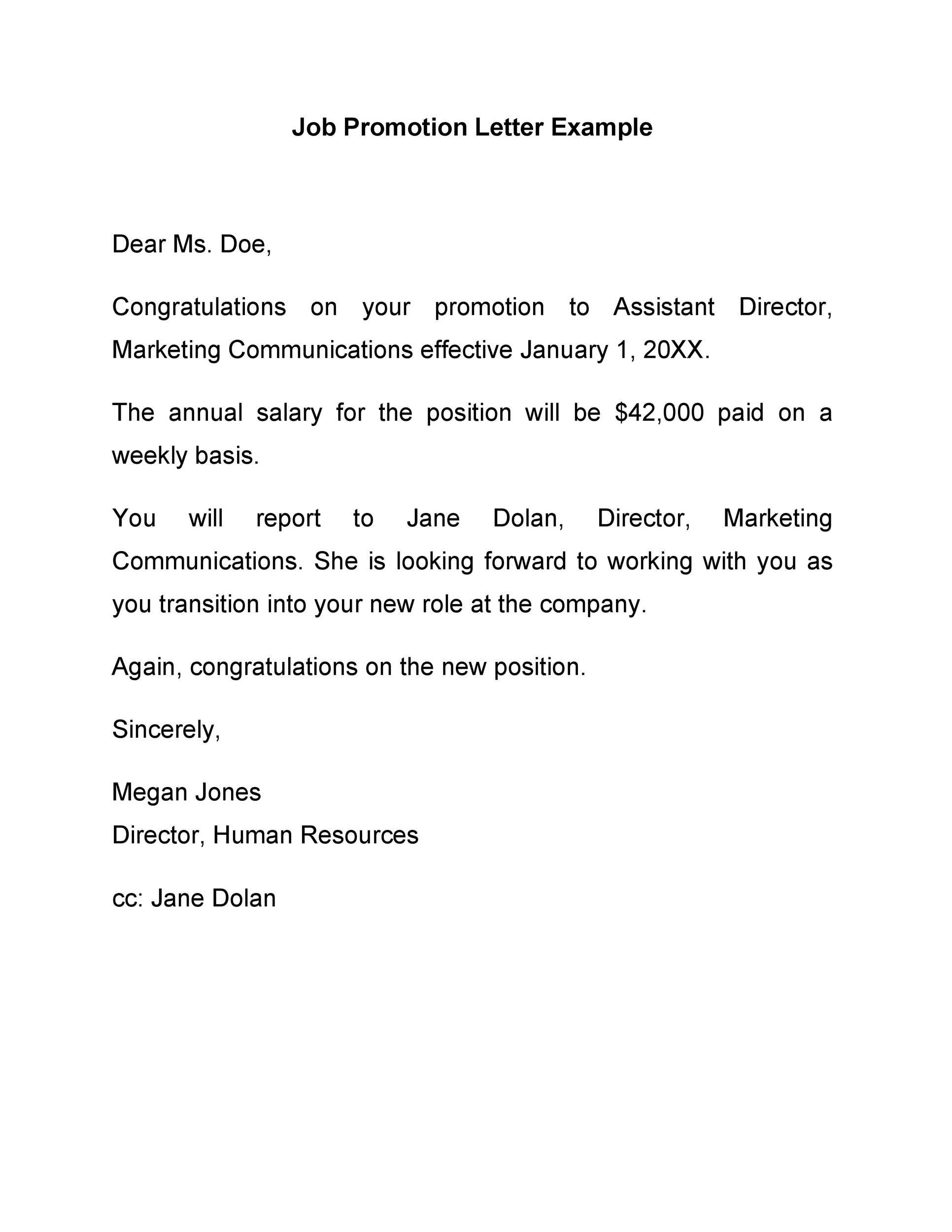 Free promotion letter 24