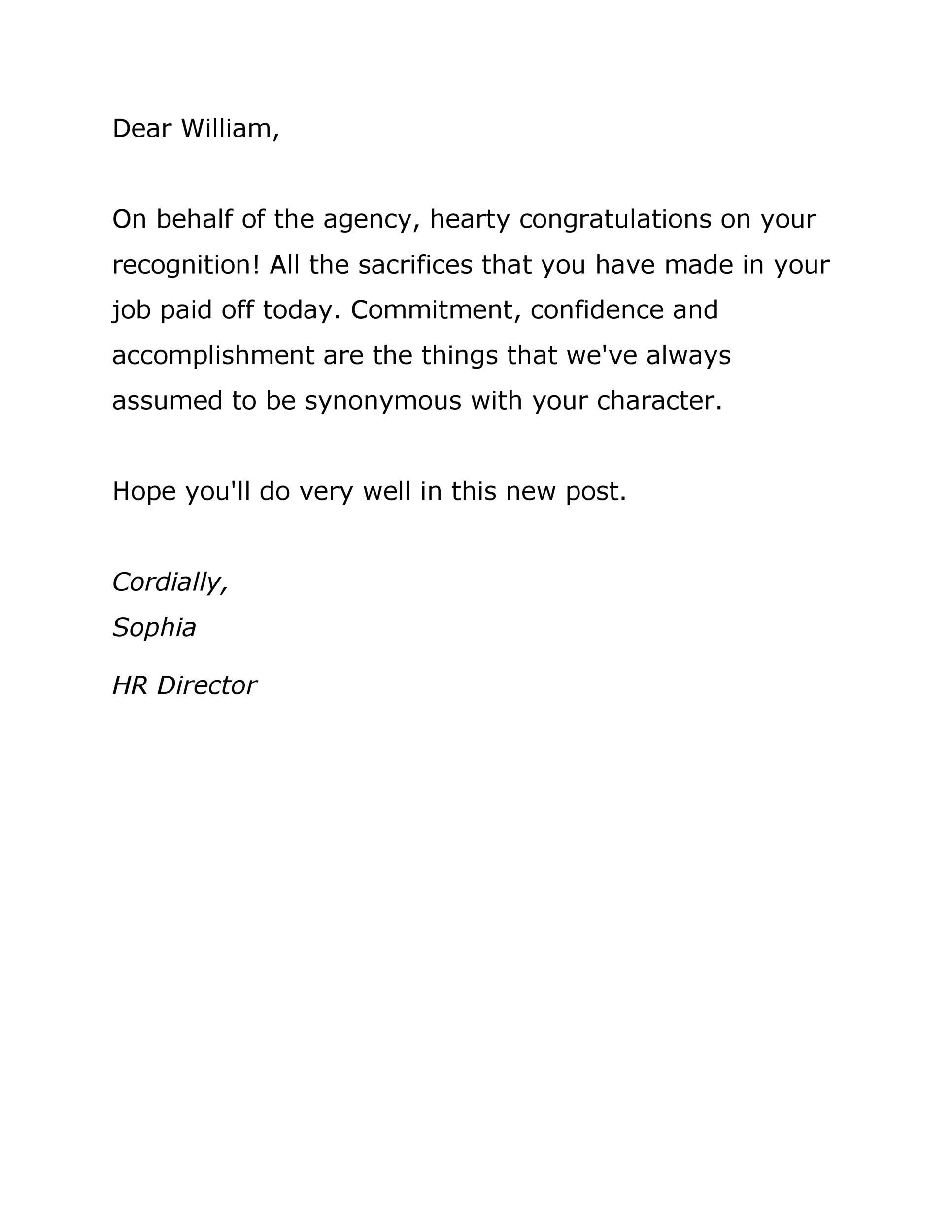 Free promotion letter 40