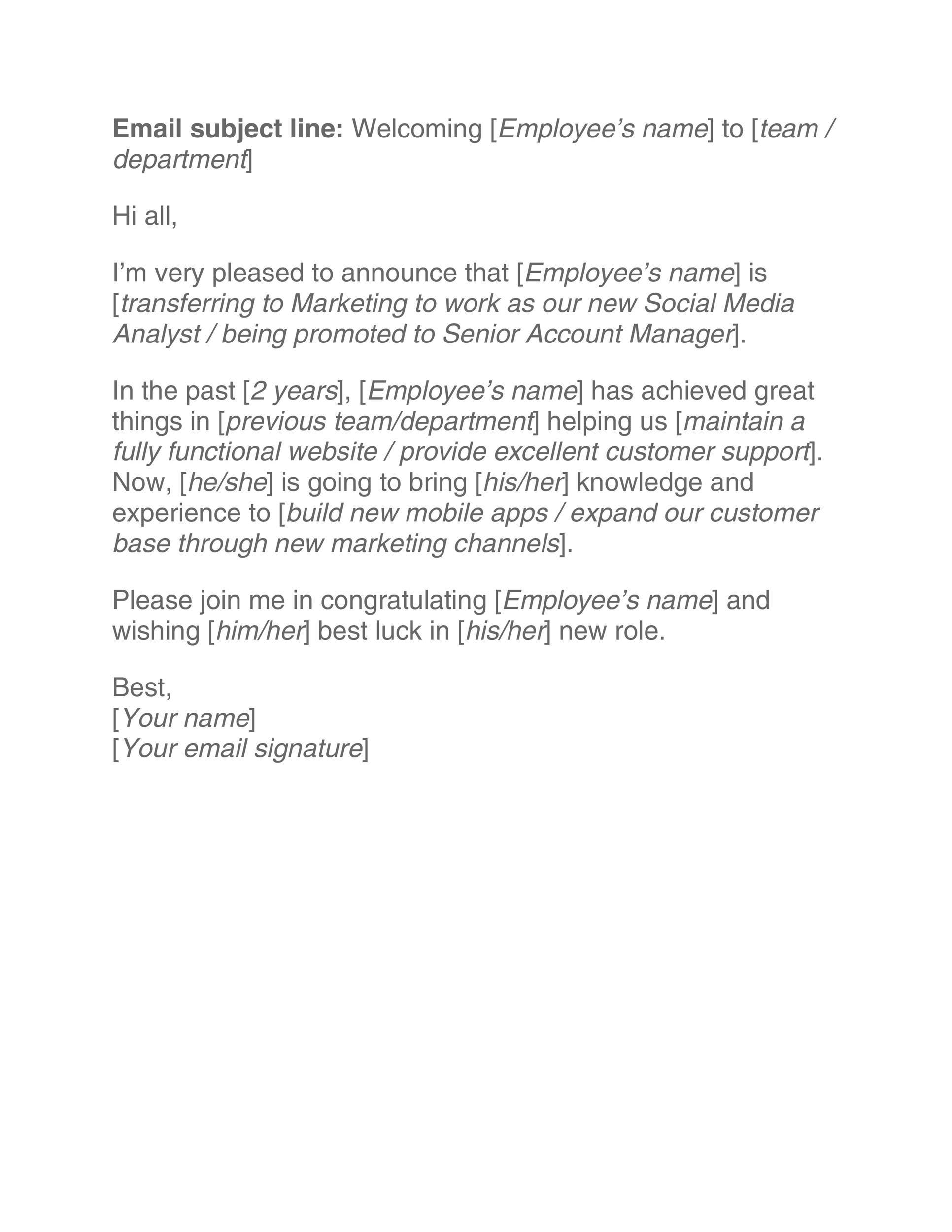 Free promotion letter 42